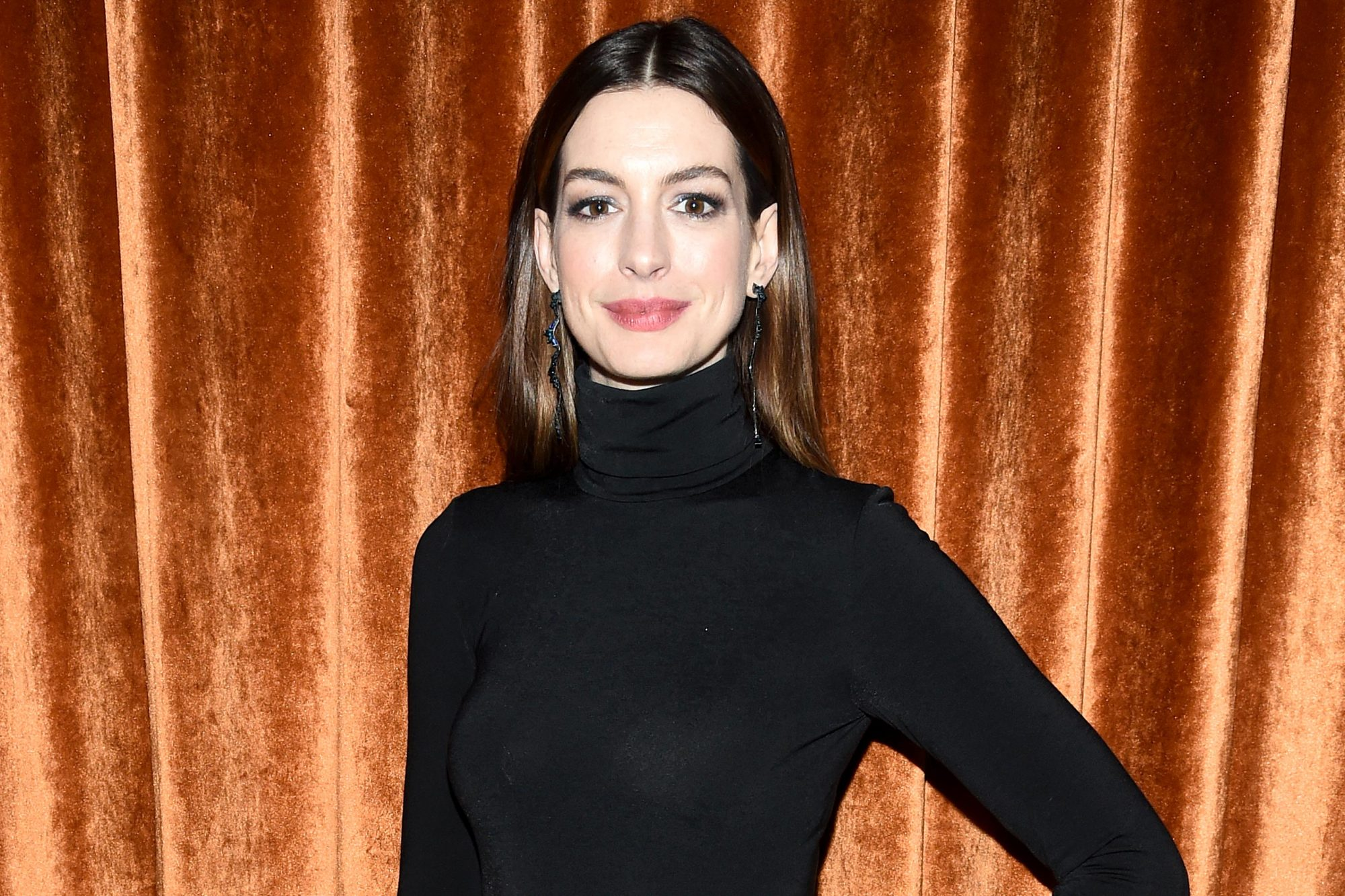 "NEW YORK, NEW YORK - JANUARY 23: Anne Hathaway attends the after party for ""Serenity"" at The Magic Hour Rooftop Bar & Louge on January 23, 2019 in New York City. (Photo by Dimitrios Kambouris/WireImage)"