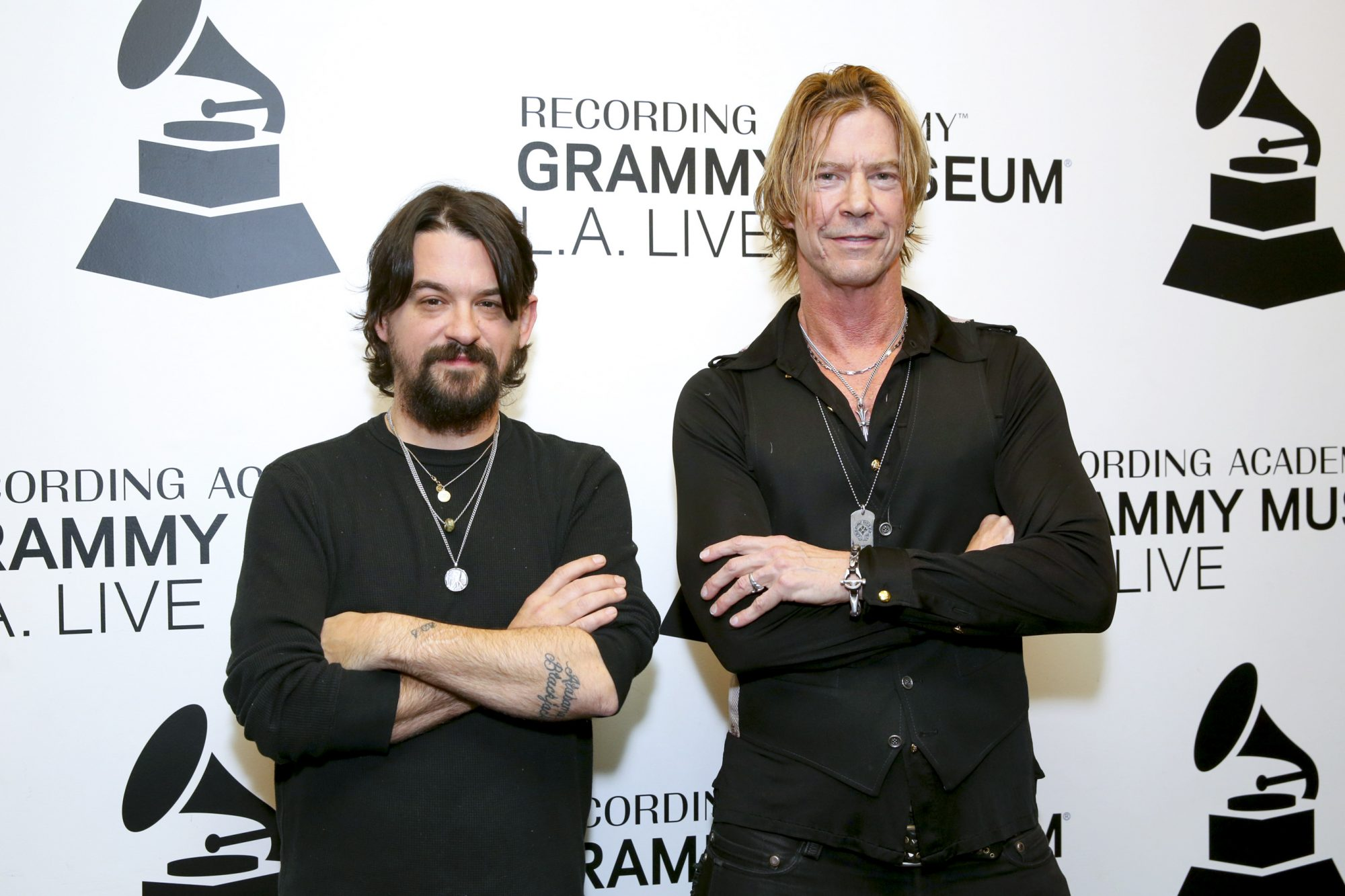 LOS ANGELES, CALIFORNIA - APRIL 04: Shooter Jennings and Duff McKagan attend The Drop: Duff McKagan & Shooter Jennings at The GRAMMY Museum on April 04, 2019 in Los Angeles, California. (Photo by Rebecca Sapp/WireImage,)
