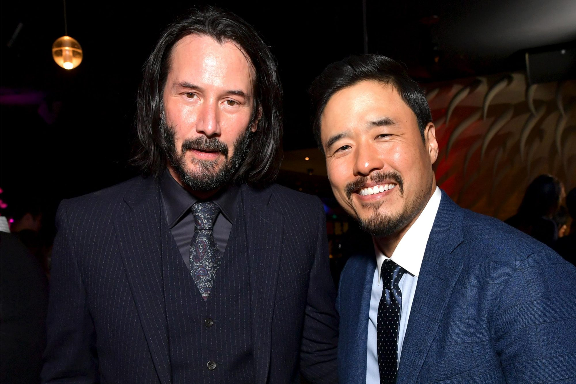 WESTWOOD, CALIFORNIA - MAY 22: Keanu Reeves and Randall Park attend the afterparty for the world premiere of Netflix's 'Always Be My Maybe' at STK on May 22, 2019 in Westwood, California. (Photo by Emma McIntyre/Getty Images for Netflix)