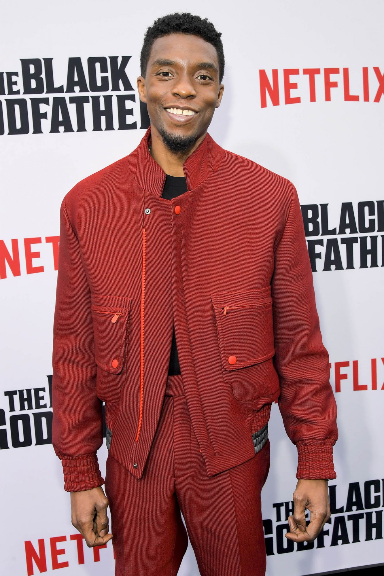 """LOS ANGELES, CALIFORNIA - JUNE 03: Chadwick Boseman attends Netflix world premiere of """"THE BLACK GODFATHER at the Paramount Theater on June 03, 2019 in Los Angeles, California. (Photo by Charley Gallay/Getty Images for Netflix)"""