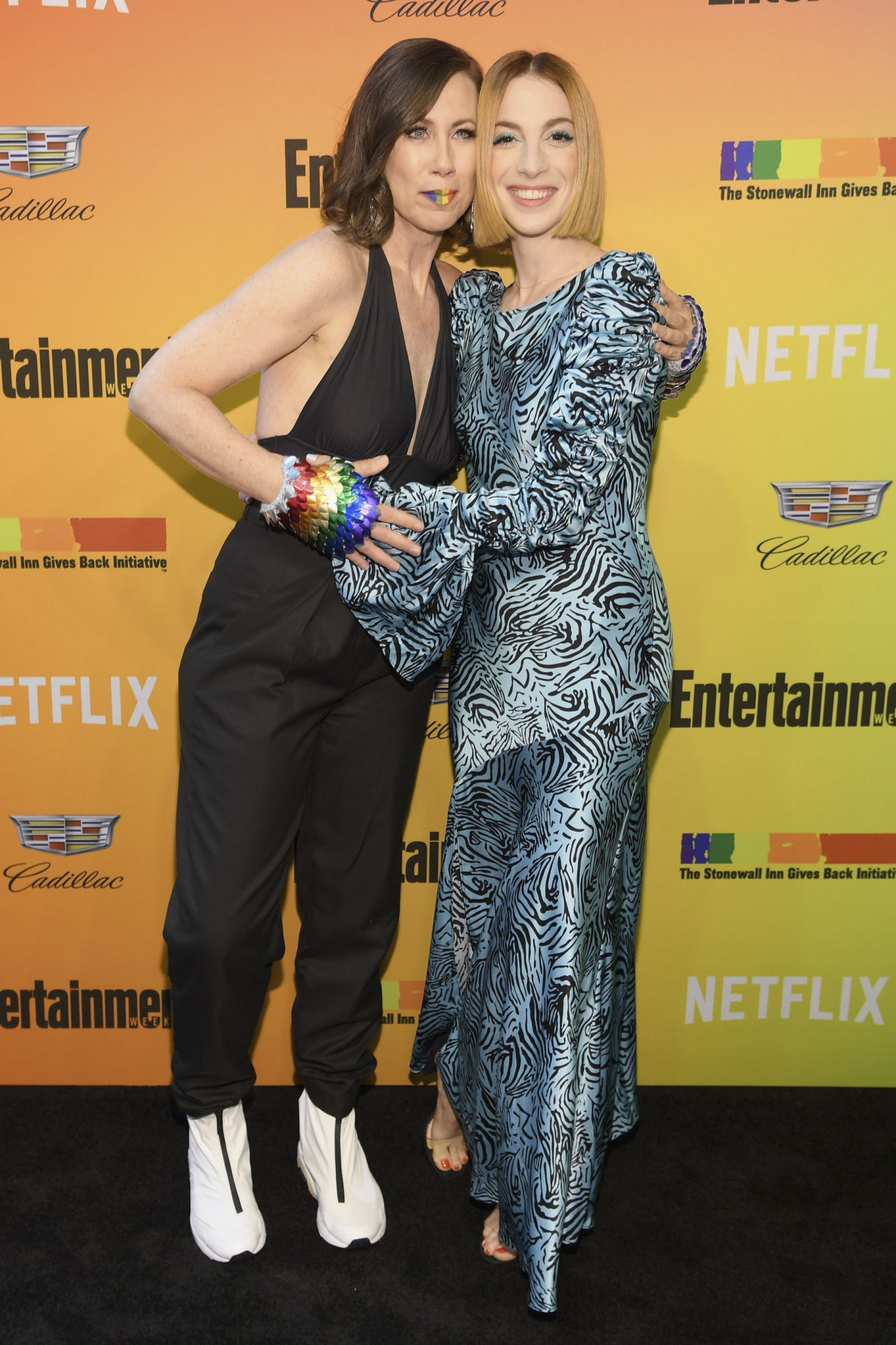 NEW YORK, NEW YORK - JUNE 05: Miriam Shor and Molly Bernard attend as Entertainment Weekly Celebrates Its Annual LGBTQ Issue at the Stonewall Inn on June 05, 2019 in New York City. (Photo by Dimitrios Kambouris/Getty Images for Entertainment Weekly)