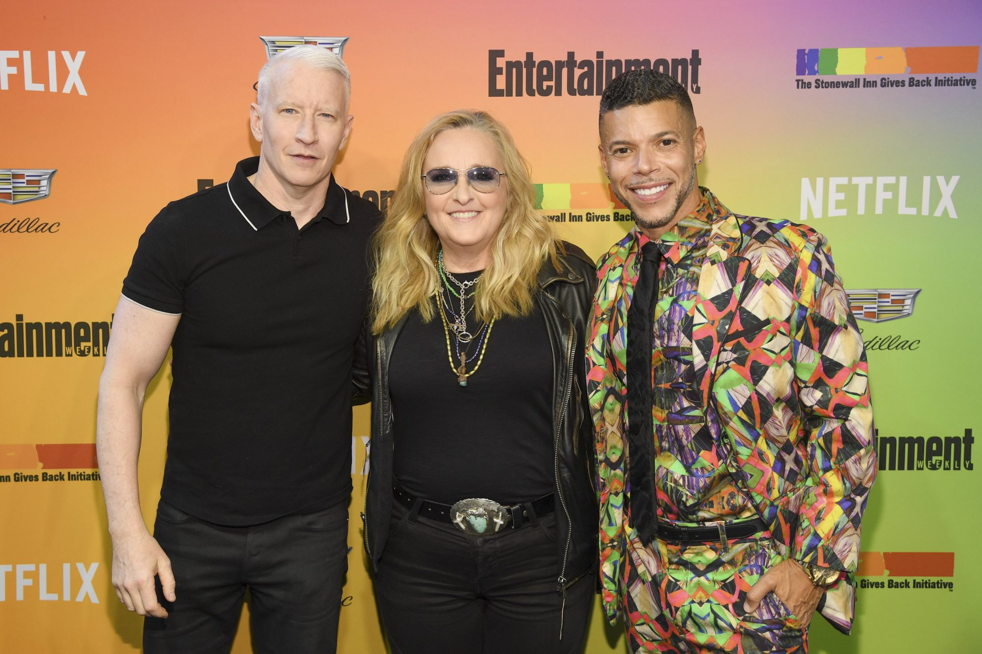 NEW YORK, NEW YORK - JUNE 05: (L-R) Anderson Cooper, Wilson Cruz and Melissa Etheridge attend as Entertainment Weekly Celebrates Its Annual LGBTQ Issue at the Stonewall Inn on June 05, 2019 in New York City. (Photo by Dimitrios Kambouris/Getty Images for Entertainment Weekly)
