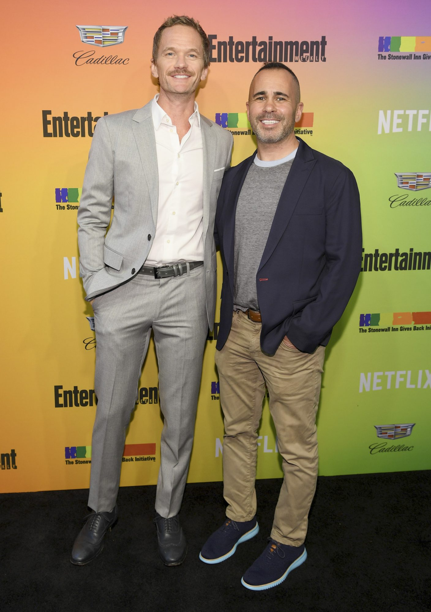 NEW YORK, NEW YORK - JUNE 05: (L) Neil Patrick Harris and Entertainment Weekly Editor in Chief Henry Goldblatt attend as Entertainment Weekly Celebrates Its Annual LGBTQ Issue at the Stonewall Inn on June 05, 2019 in New York City. (Photo by Dimitrios Kambouris/Getty Images for Entertainment Weekly)