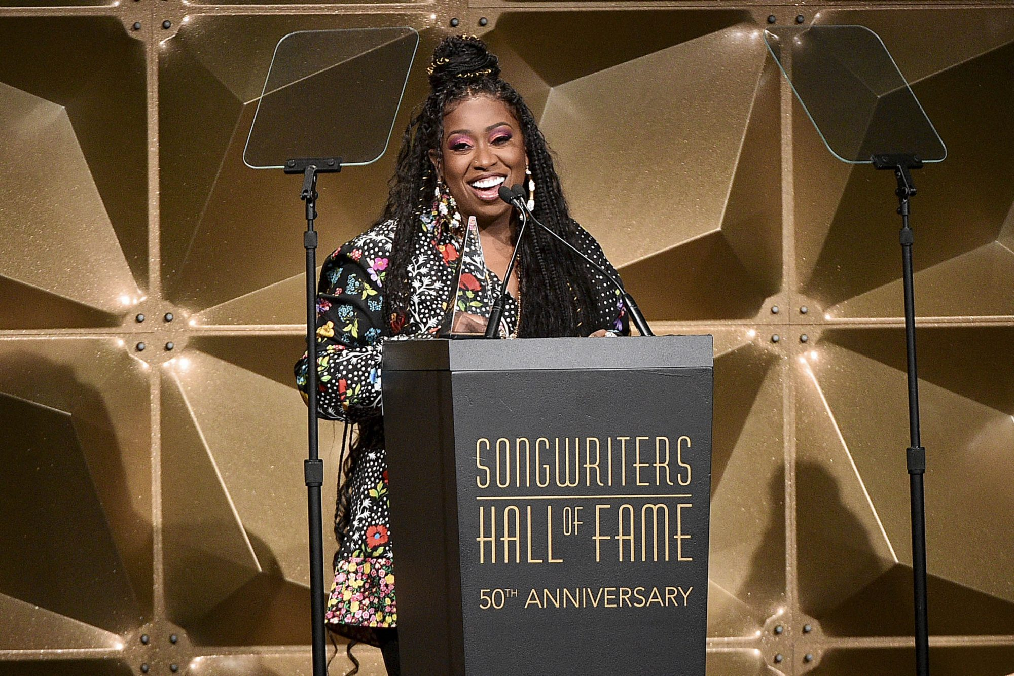 NEW YORK, NEW YORK - JUNE 13: Inductee Missy Elliott speaks onstage during the Songwriters Hall Of Fame 50th Annual Induction And Awards Dinner at The New York Marriott Marquis on June 13, 2019 in New York City. (Photo by Theo Wargo/Getty Images for Songwriters Hall Of Fame )