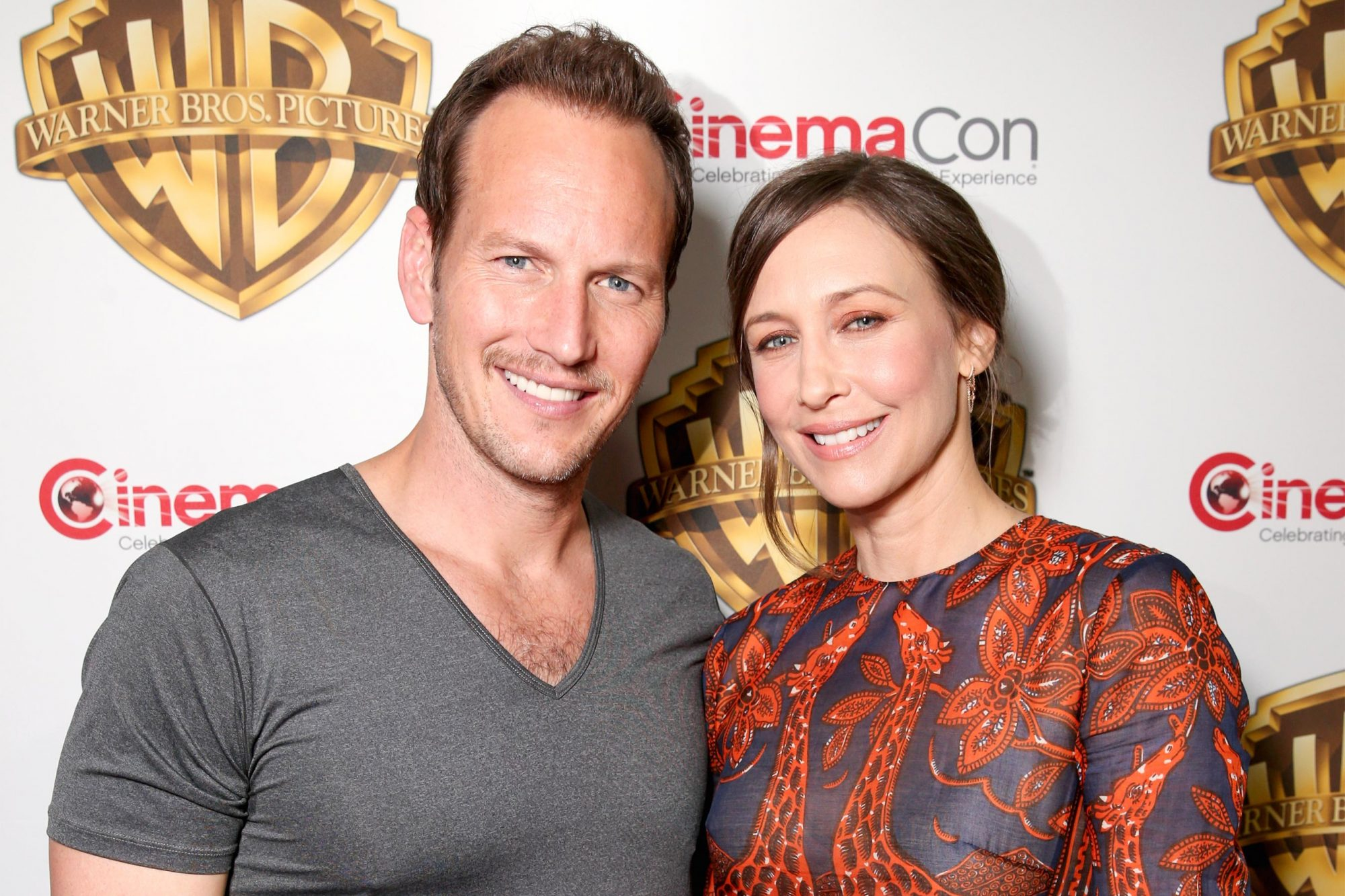 LAS VEGAS, NV - APRIL 12: Actors Patrick Wilson (L) and Vera Farmiga of 'The Conjuring 2' attend CinemaCon 2016 Warner Bros. Pictures Invites You to ?The Big Picture?, an Exclusive Presentation Highlighting the Summer of 2016 and Beyond at The Colosseum at Caesars Palace during CinemaCon, the official convention of the National Association of Theatre Owners, on April 12, 2016 in Las Vegas, Nevada. (Photo by Todd Williamson/Getty Images for CinemaCon)