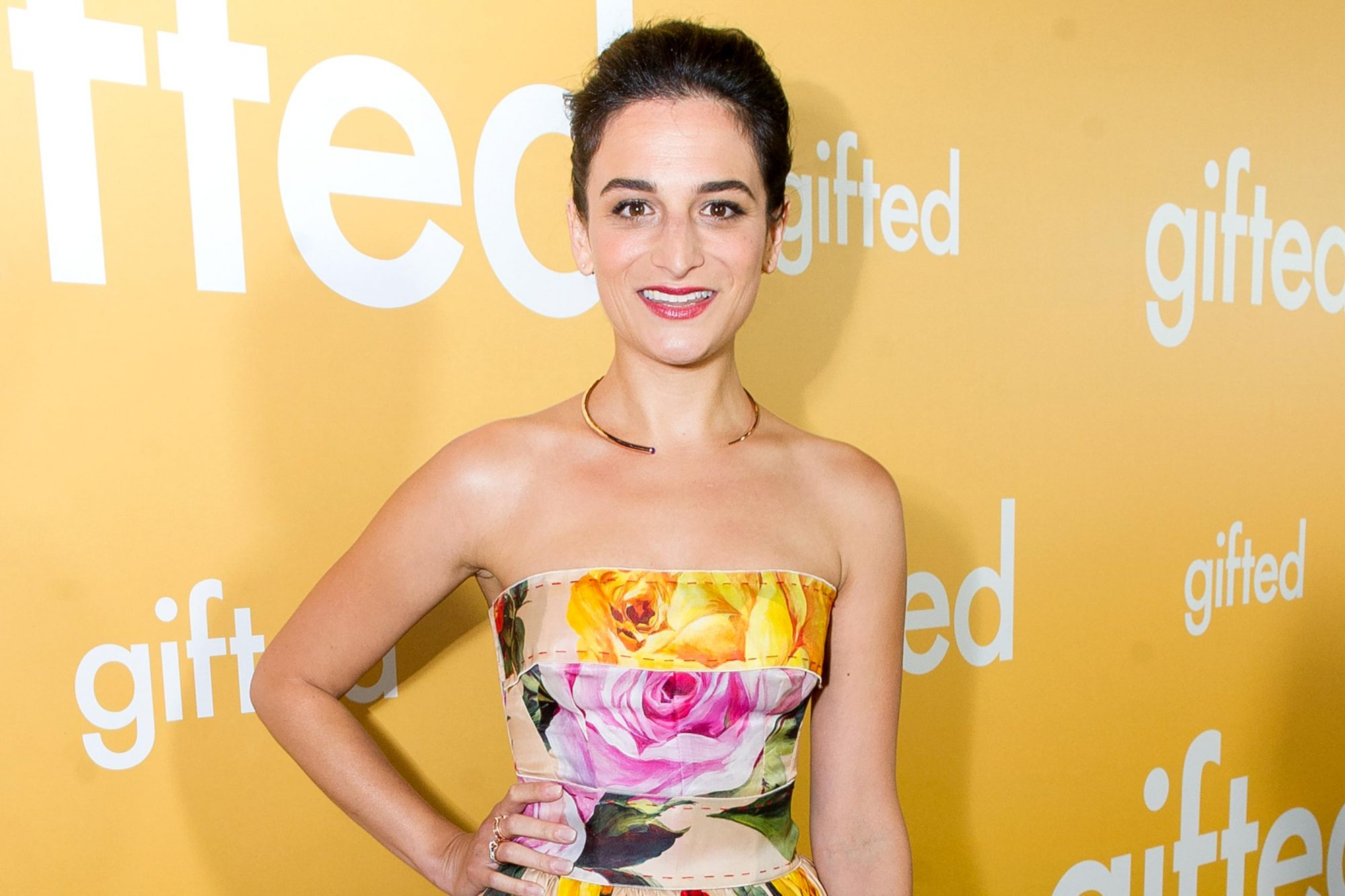 LOS ANGELES, CA - APRIL 04: Actress Jenny Slate arrives at the premiere of Fox Searchlight Pictures' 'Gifted' at Pacific Theaters at the Grove on April 4, 2017 in Los Angeles, California. (Photo by Emma McIntyre/Getty Images)