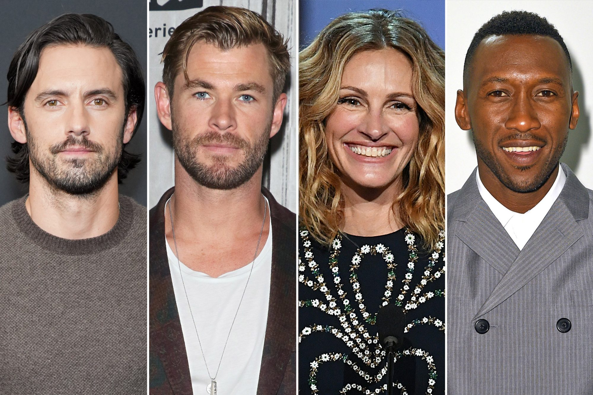 Julia Roberts, Chris Hemsworth, Mahershala Ali and Milo Ventimiglia