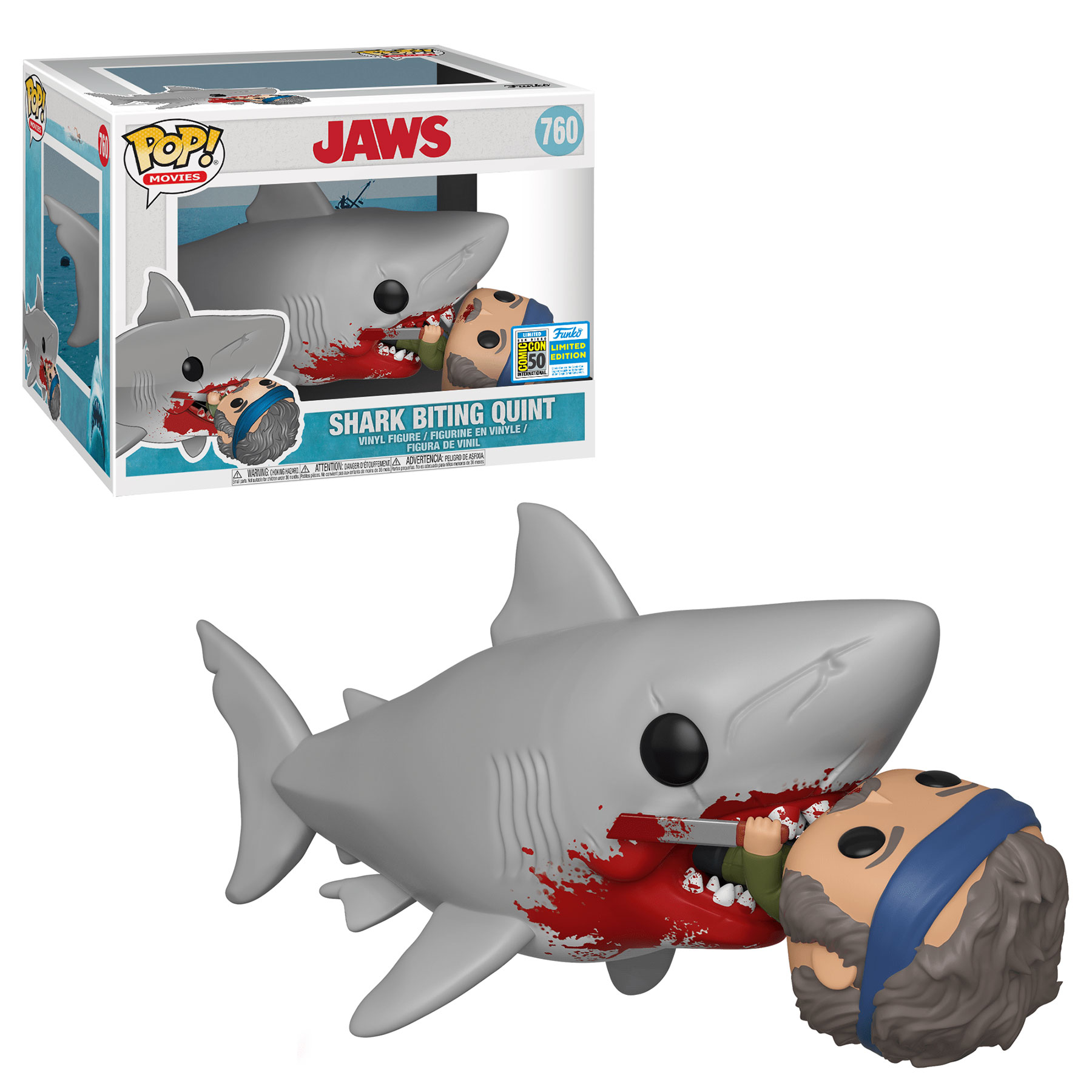 The shark fromJawseating Quint