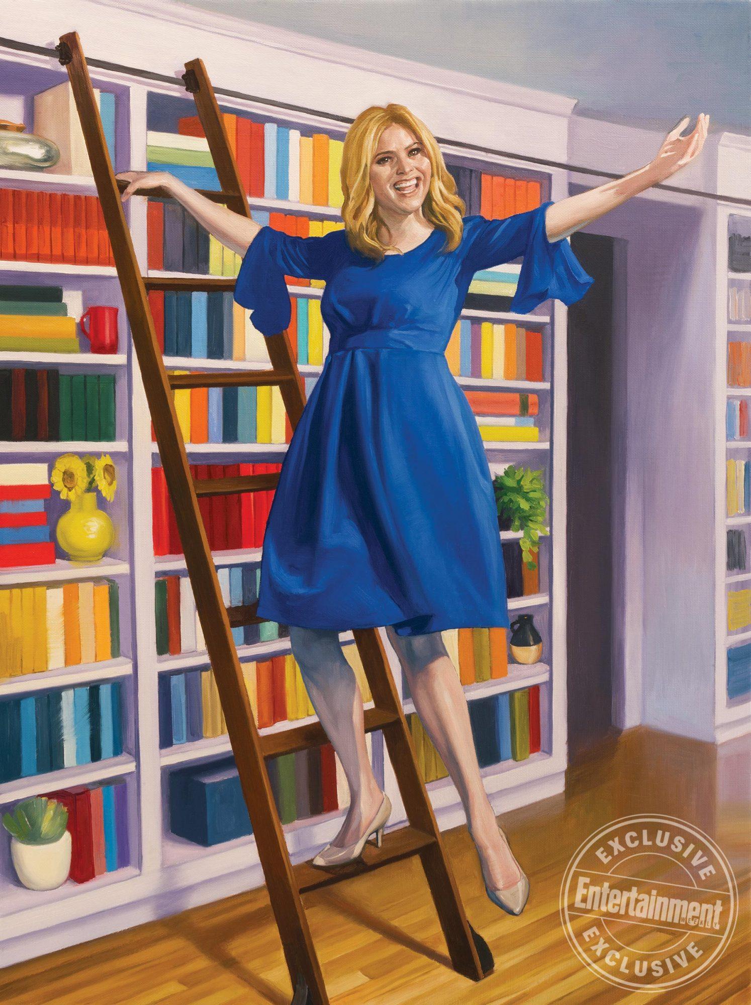 1568 Book Club Jenna Bush Hager by Roberto Parada CR: Illustration by Roberto Parada for EW