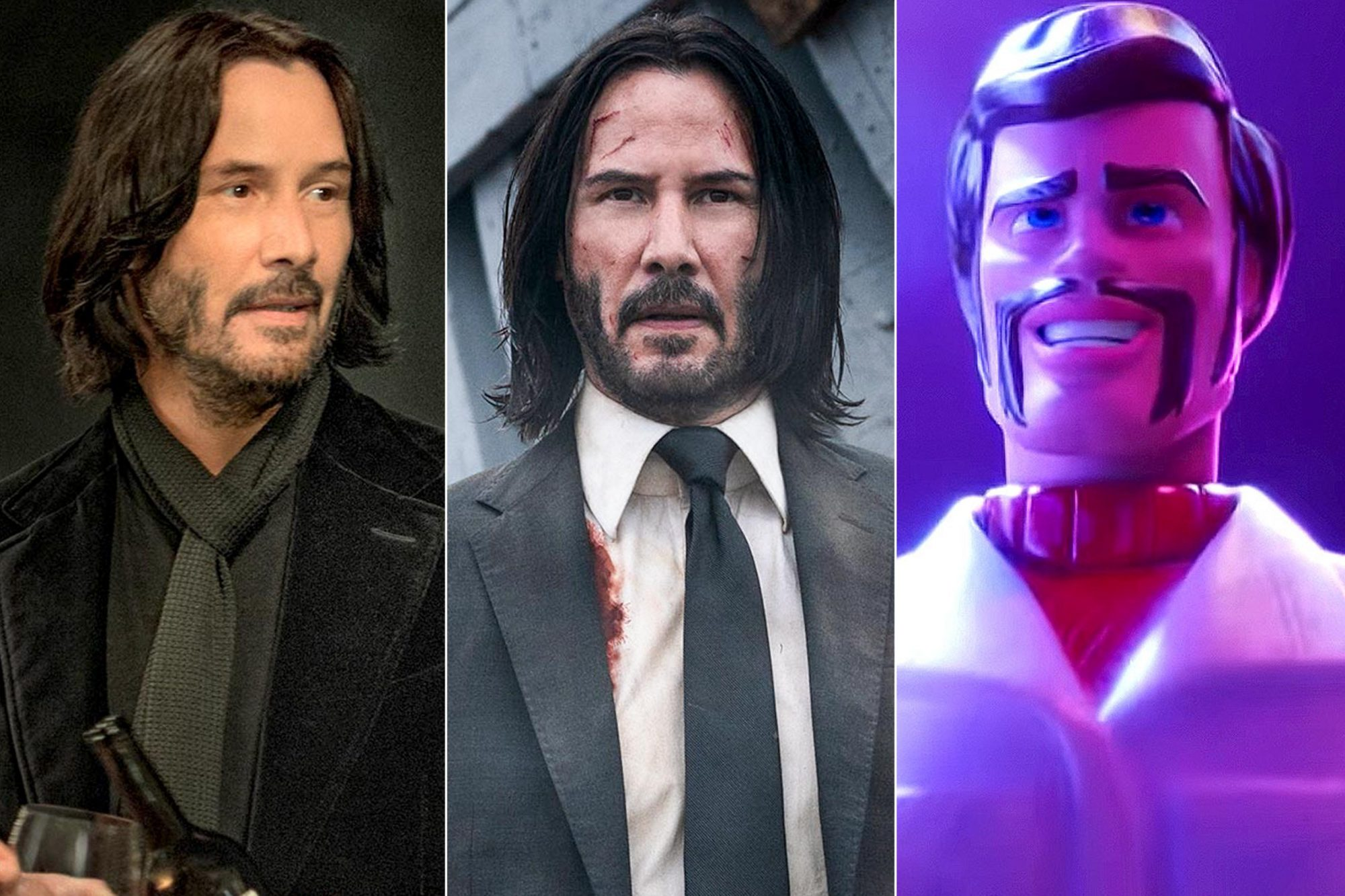 Always Be My Maybe SEASON Always Be My Maybe PHOTO CREDIT Doane Gregory / Netflix PICTURED Keanu Reeves Keanu Reeves stars as 'John Wick' in JOHN WICK: CHAPTER 3 - PARABELLUM. Photo Credit: Mark Rogers/Lionsgate Toy Story 4 (screen grab) Keanu Reeves https://www.youtube.com/watch?v=wmiIUN-7qhE CR: Disney/Pixar