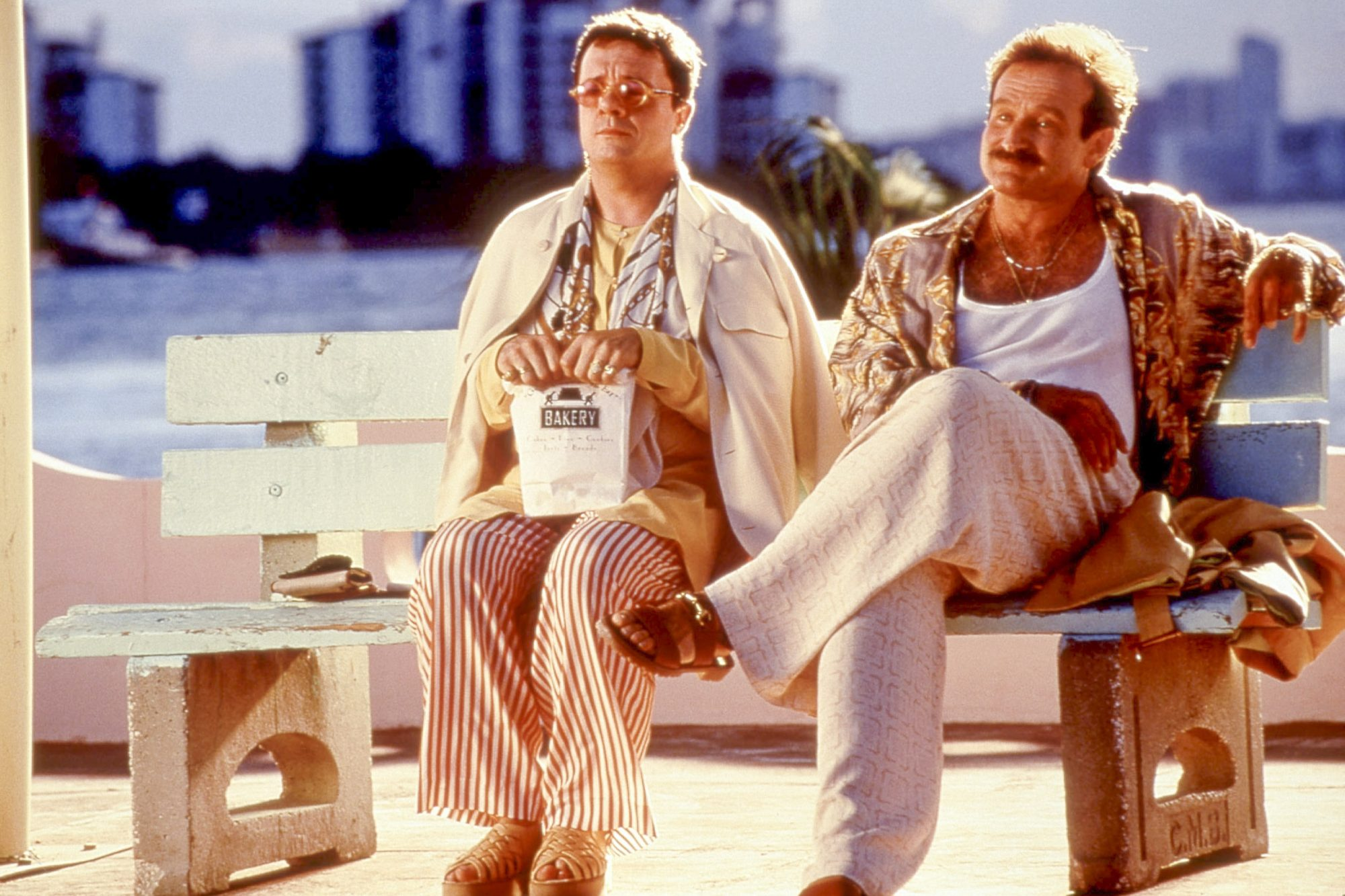 THE BIRDCAGE, Nathan Lane, Robin Williams, 1996, © United Artists / Courtesy Everett Collection