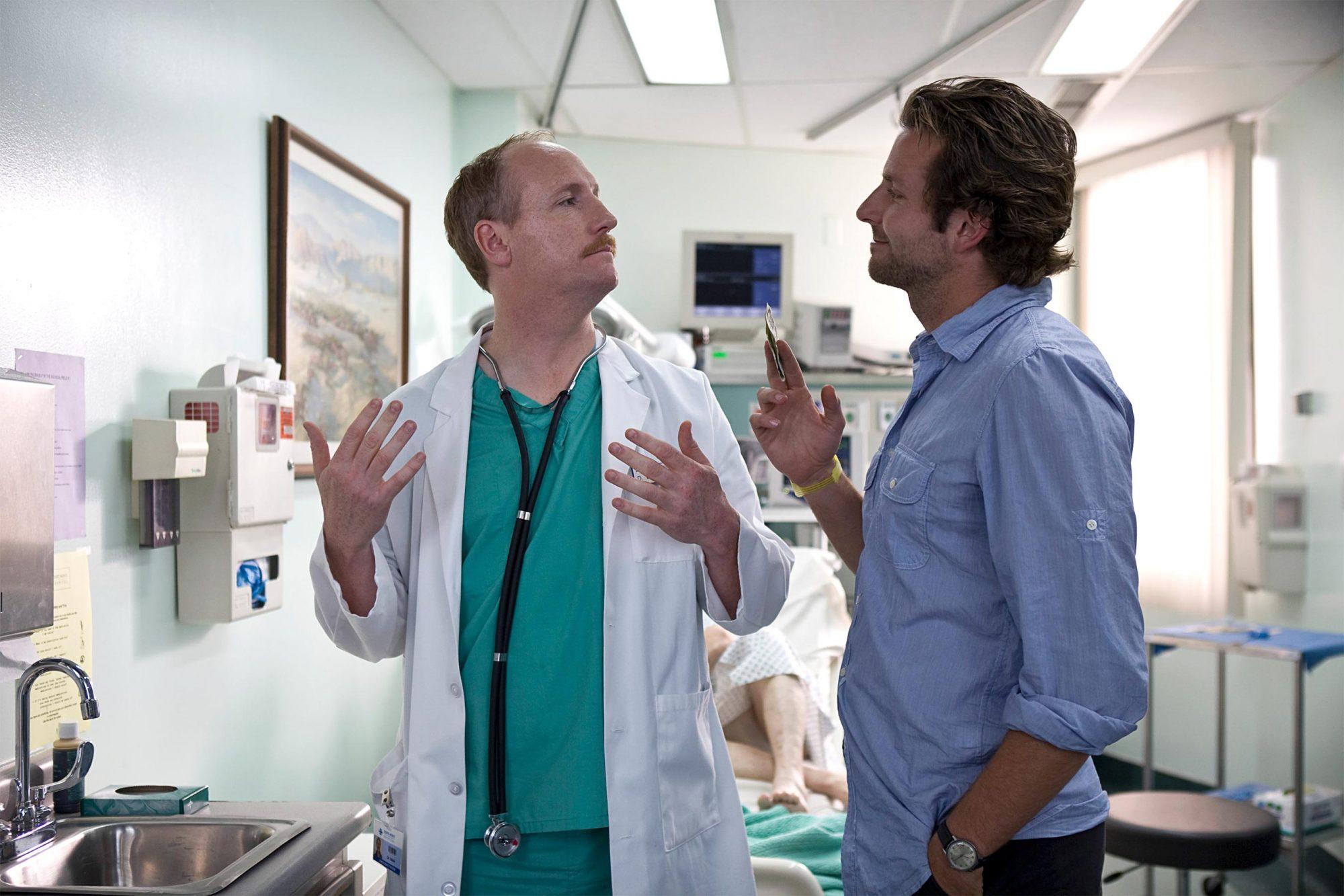 THE HANGOVER, from left: Matt Walsh, Bradley Cooper, 2009. Ph: Frank Masi/©Warner Bros./Courtesy Everett Collection