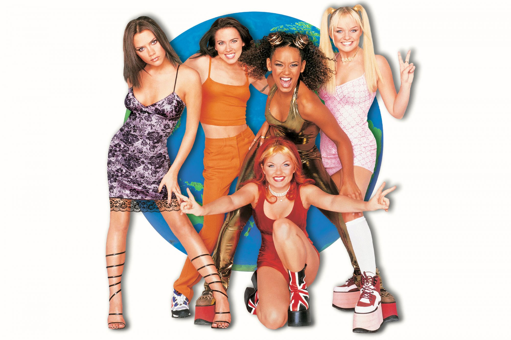 SPICE WORLD, Victoria Beckham as Posh Spice, Melanie Chisholm as Sporty Spice, Melanie Brown as Scar