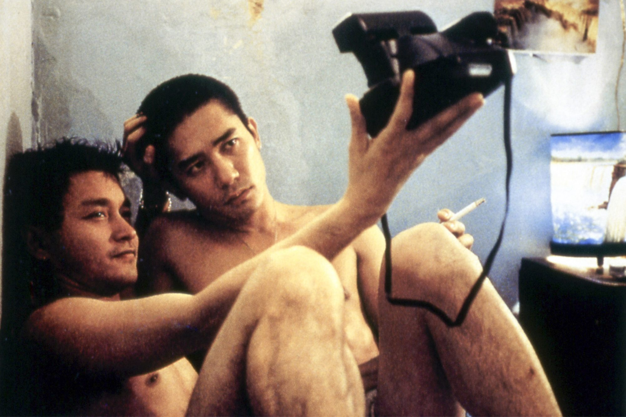 HAPPY TOGETHER, (aka CHEUN GWONG TSA SIT), Leslie Cheung, Tony LEUNG Chiu Wai, 1997. ©Kino Internati