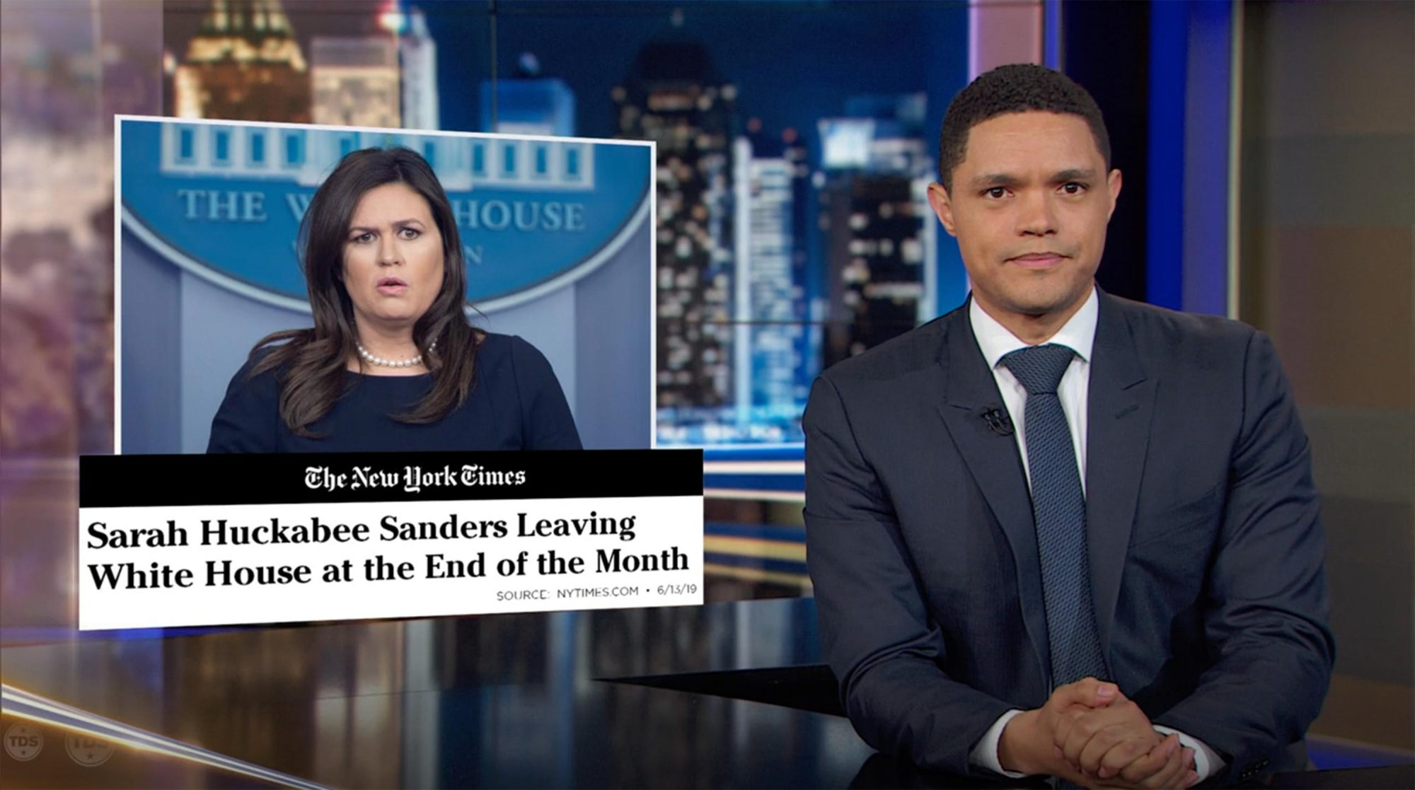 The Daily Show with Trevor Noah screen grab