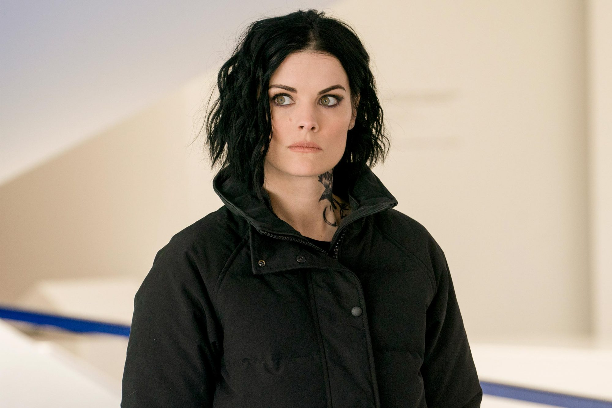 "BLINDSPOT -- ""'The Gang Gets Gone"" Episode 422 -- Pictured: Jaimie Alexander as Jane Doe -- (Photo by: Barbara Nitke/NBC/Warner Brothers)"