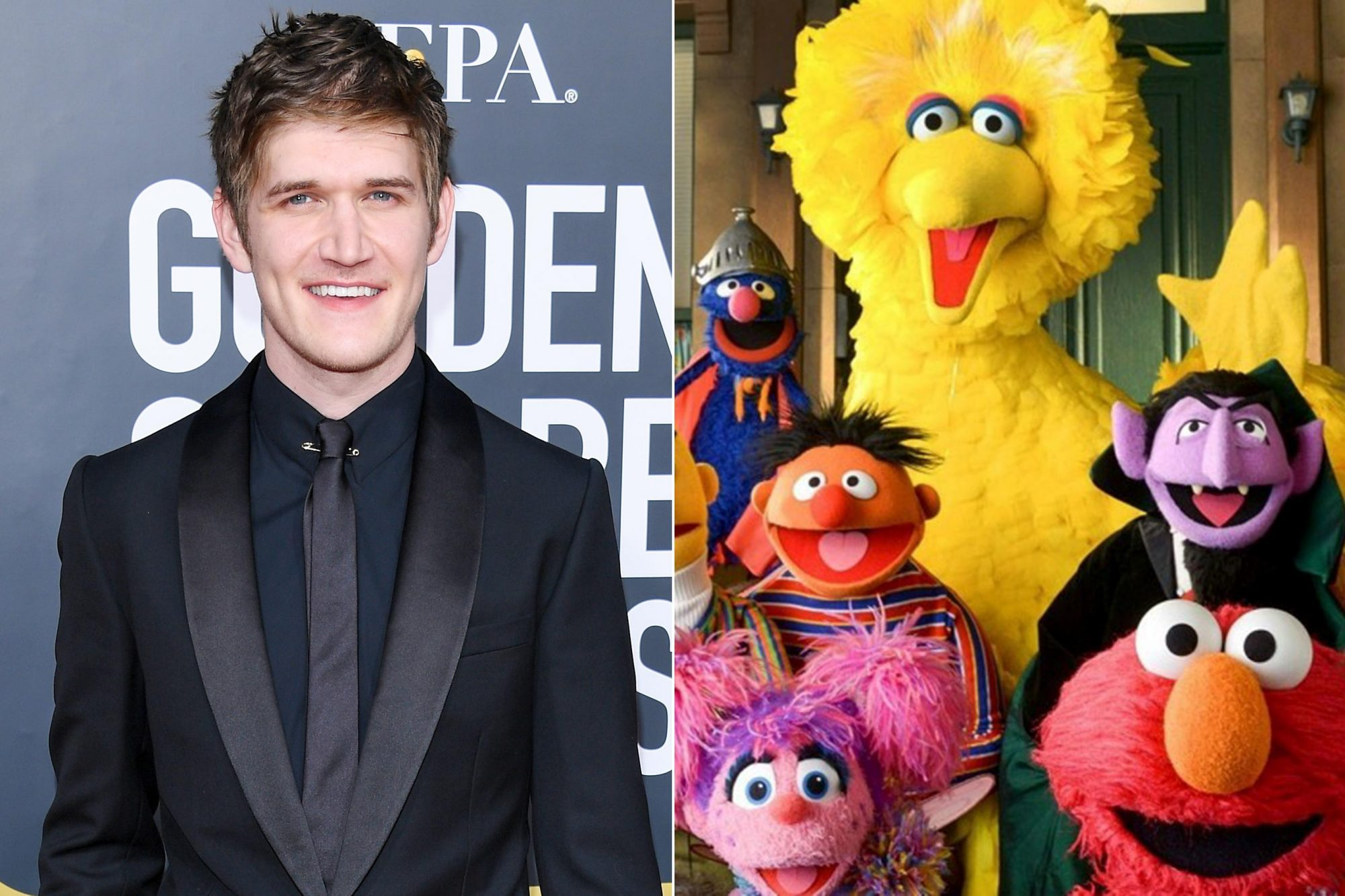 BEVERLY HILLS, CA - JANUARY 06: Bo Burnham attends the 76th Annual Golden Globe Awards at The Beverly Hilton Hotel on January 6, 2019 in Beverly Hills, California. (Photo by Daniele Venturelli/WireImage) Sesame Street CR: PBS Kids