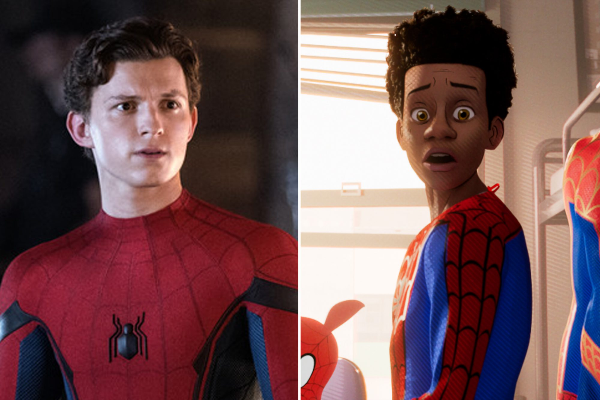 Tom Holland SPIDER-MAN: ™ FAR FROM HOME Miles Morales SPIDER-MAN: INTO THE SPIDER-VERSE