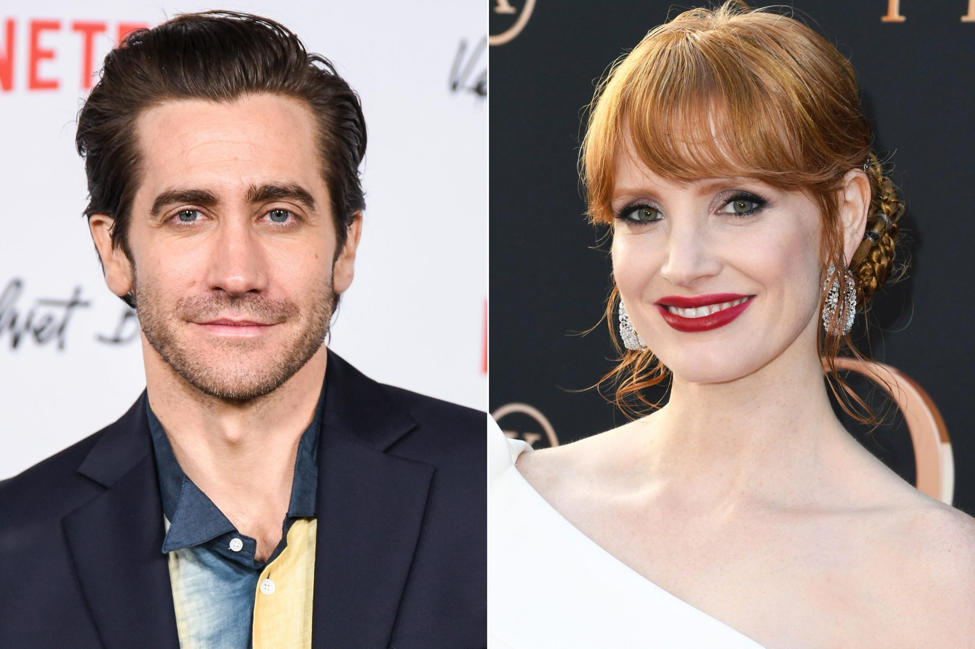 "HOLLYWOOD, CALIFORNIA - JANUARY 28: Jake Gyllenhaal attends Los Angeles Premiere Screening Of ""Velvet Buzzsaw"" at American Cinematheque's Egyptian Theatre on January 28, 2019 in Hollywood, California. (Photo by Presley Ann/FilmMagic,) HOLLYWOOD, CALIFORNIA - JUNE 04: Jessica Chastain attends the Premiere Of 20th Century Fox's ""Dark Phoenix"" at TCL Chinese Theatre on June 04, 2019 in Hollywood, California. (Photo by Jon Kopaloff/FilmMagic)"