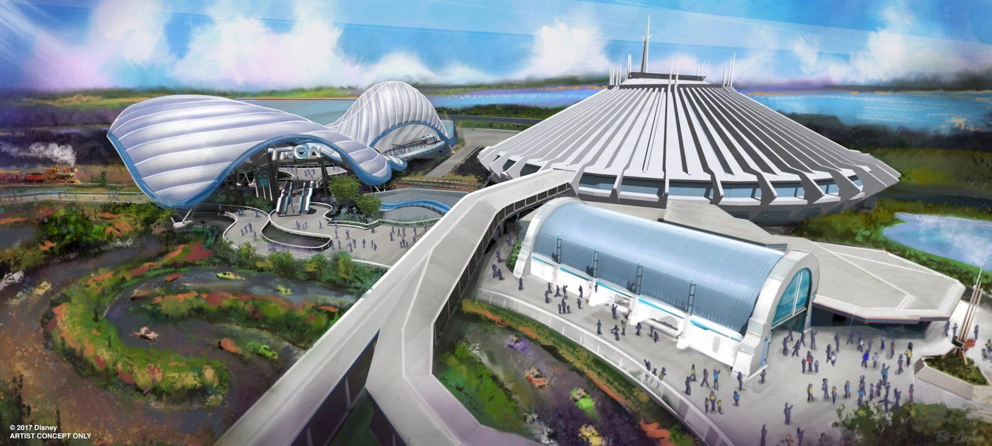 TRON ride concept art at Walt Disney World CR: Disney