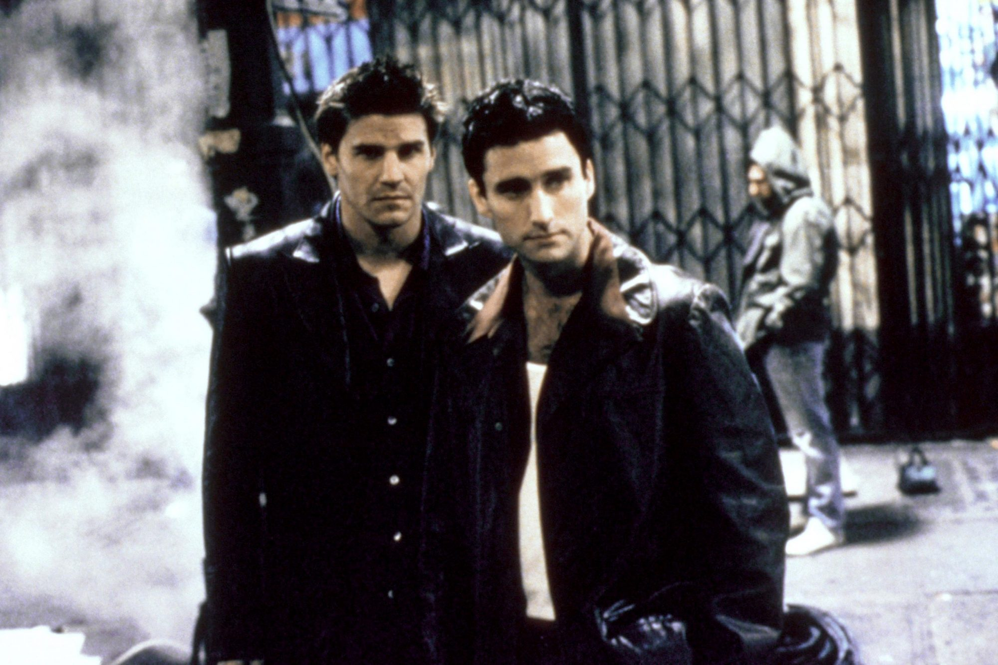 ANGEL, (from left): David Boreanaz, Glenn Quinn, 'City of...', (Season 1, aired Oct. 5, 1999), 1999-