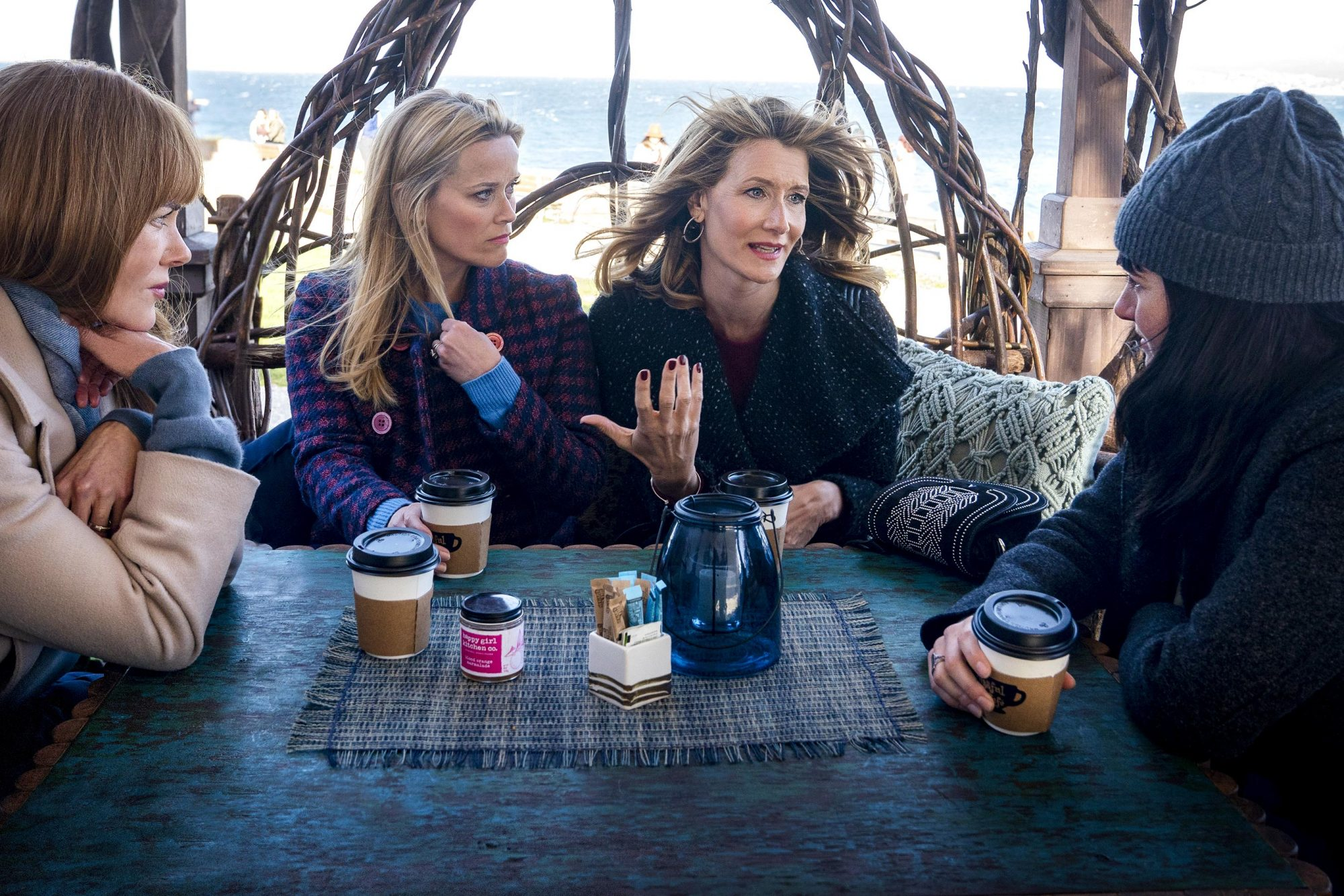 Big Little Lies Season 2 Nicole Kidman, Reese Witherspoon, Laura Dern, Shailene Woodley. photo: Jennifer Clasen/HBO