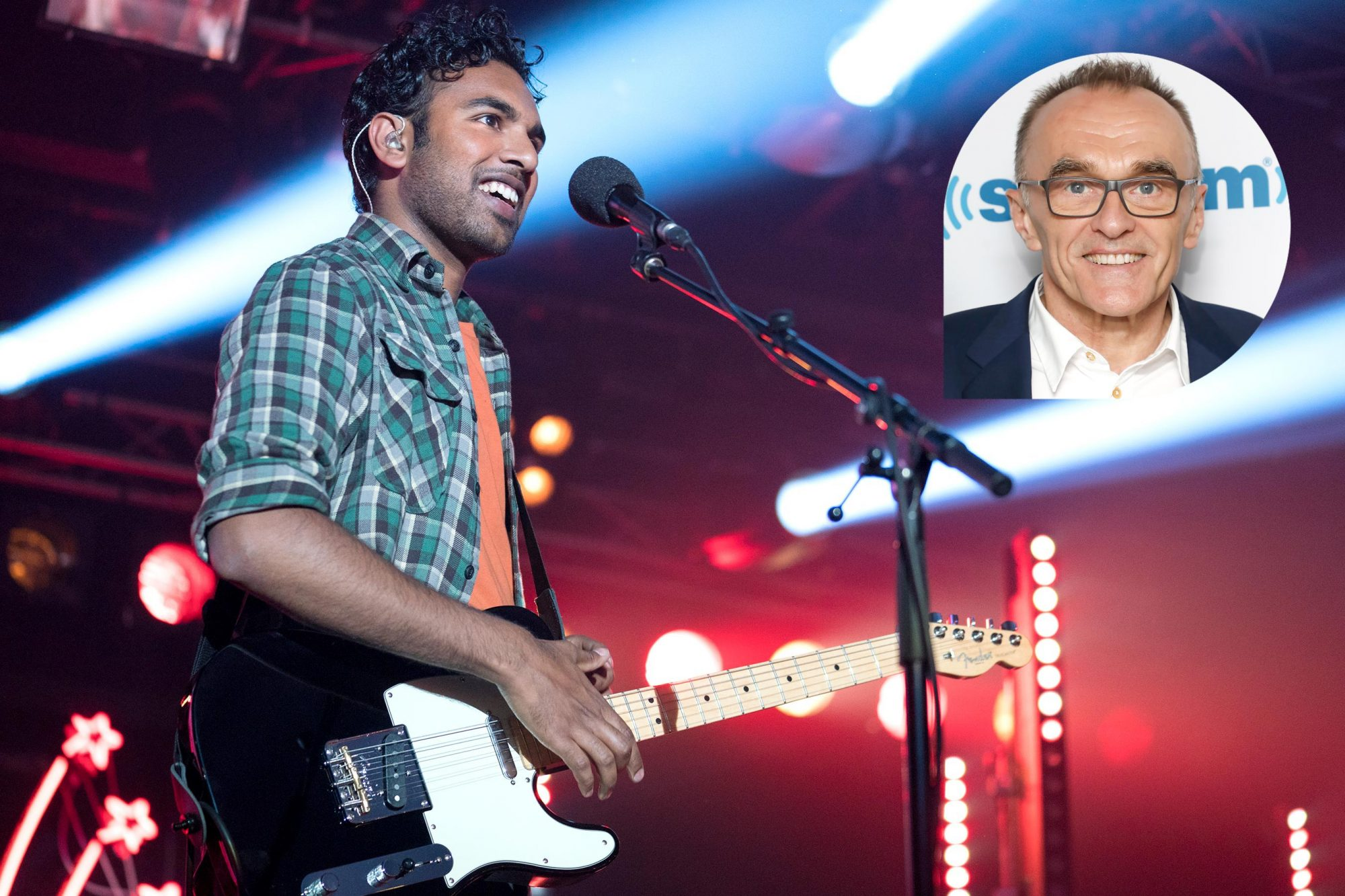 "Singer-songwriter Jack Malik (Himesh Patel) performs at a live event in ""Yesterday,"" directed by Danny Boyle. Photo Credit: Jonathan Prime/Universal"