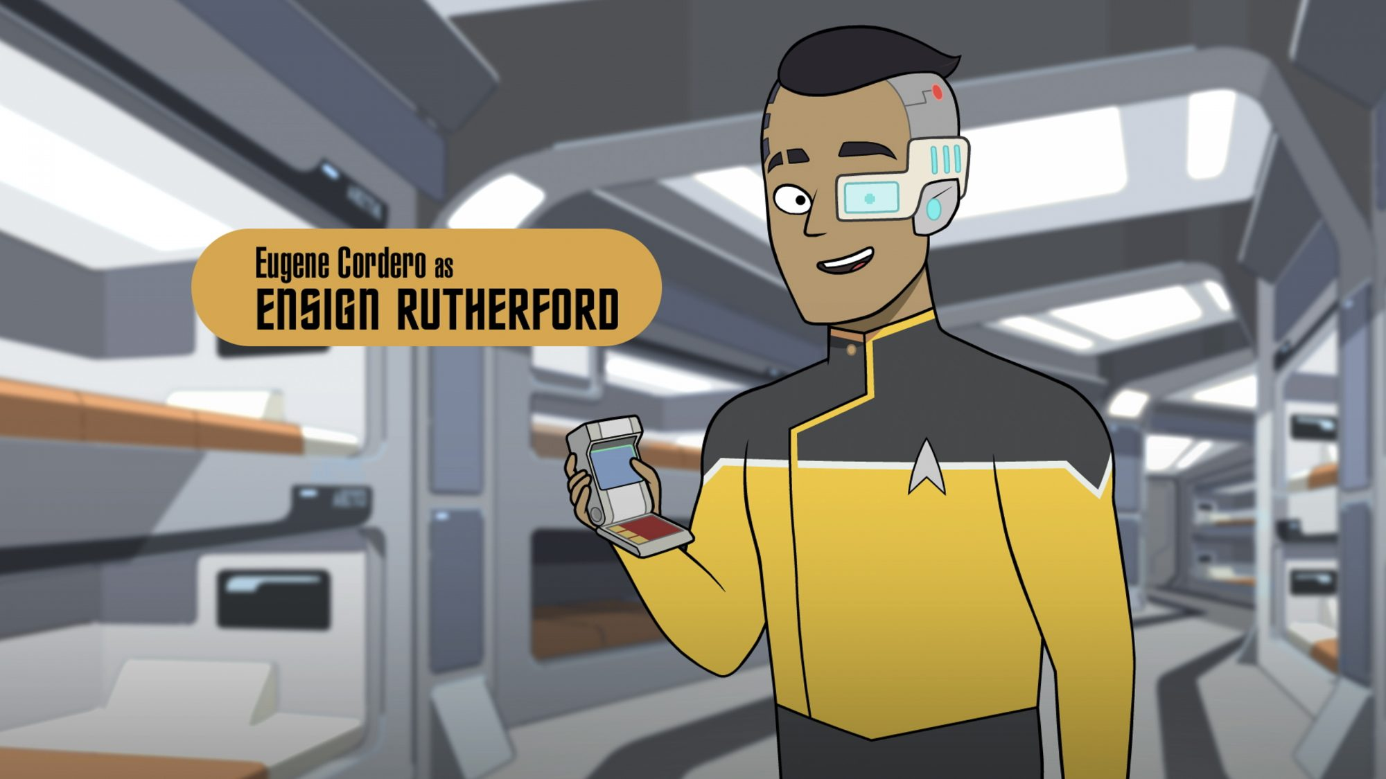 Pictured: Eugene Cordero as Ensign Rutherford of the CBS All Access series STAR TREK: LOWER DECKS. ©2019 CBS Interactive, Inc. All Rights Reserved.