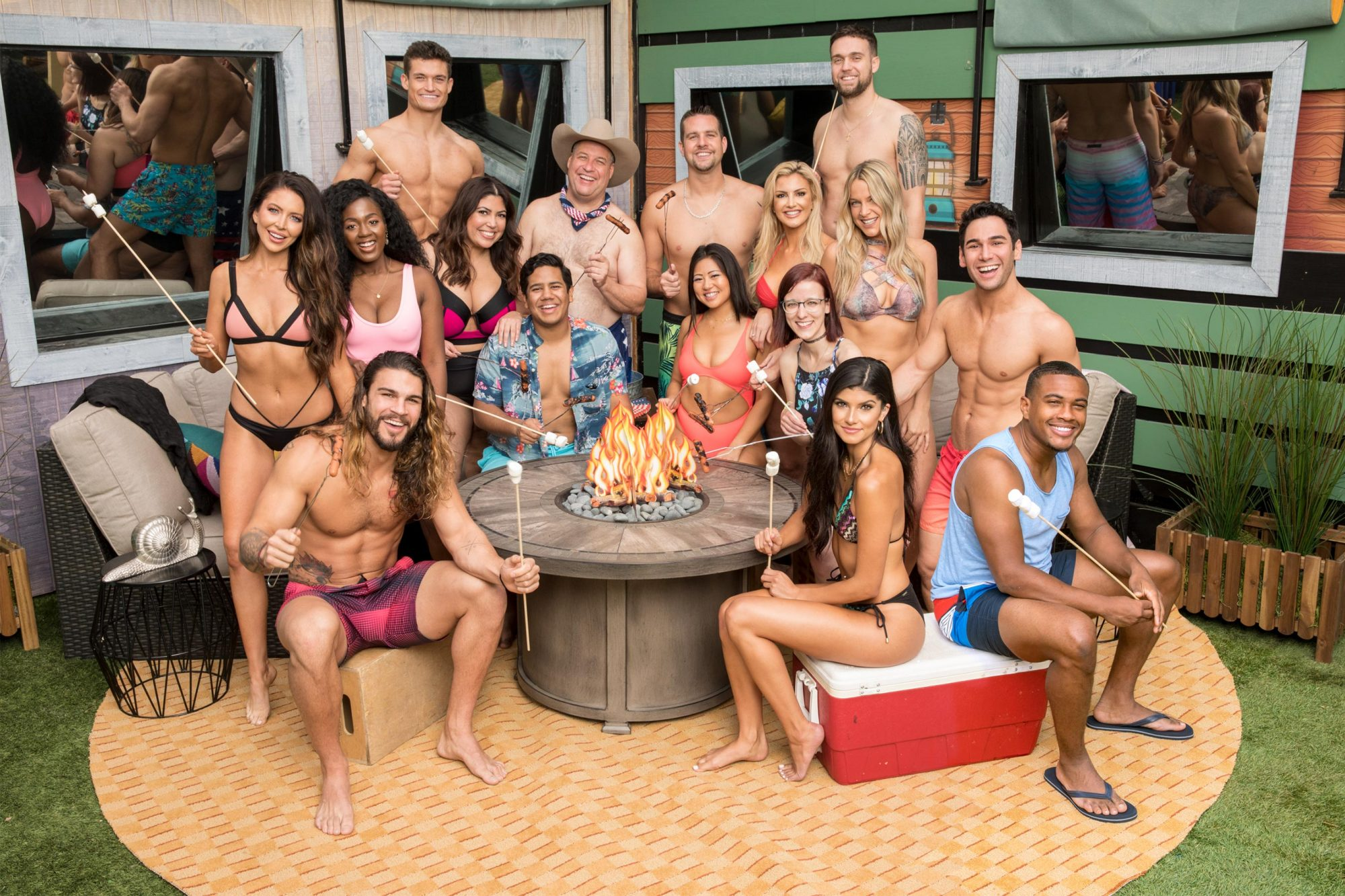 Houseguest of Big Brother 21 --L-R bottom row: Jack Matthews, Analyse Talvera, David Alexander; L-R 2nd row: Holly Alexander, Kemi Fakunle, Jessica Milagros, Ovi Kabir, Isabella Wang, Nicole Anthony, Tommy Bracco; L-R top tow: Jackson Michie, Cliff Hogg, Sam Smith, Kathryn Dunn,Christie Murphy, Nick Maccarone. BIG BROTHERÕs two-night premiere event airing Tuesday, June 25 and Wednesday, June 26 (8:00 Ð 9:00 PM, ET/PT), on the CBS Television Network. Following the two-night premiere, BIG BROTHER will be broadcast Sunday, June 30 (8:00-9:00 PM, ET/PT) and Tuesday, July 2 (8:00-9:00 PM, ET/PT). The first live eviction airs Wednesday, July 3. As of Wednesday, July 10, the show moves to its regular schedule of Wednesdays (9:00-10:00 PM, ET/PT), Thursdays, featuring the live evictions (9:00-10:00 PM, LIVE ET/Delayed PT) and Sundays (8:00-9:00 PM, ET/PT). Reserved Photo: Monty Brinton/CBS ©2018 CBS Broadcasting, Inc. All Rights Reserved