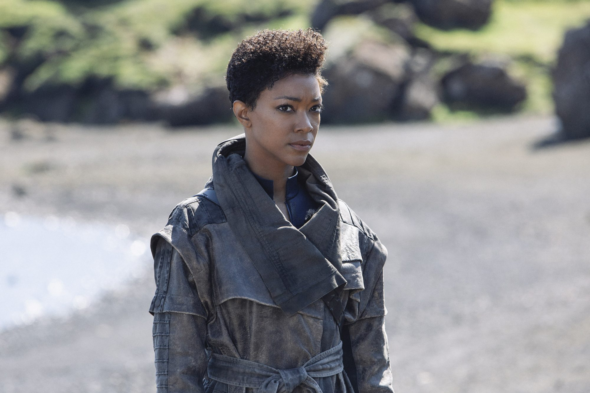 Pictured: Sonequa Martin-Green as Burnham of the CBS All Access series STAR TREK: DISCOVERY. Photo Cr: Lilja J--nsd--ttir/CBS © 2019 CBS Interactive. All Rights Reserved.
