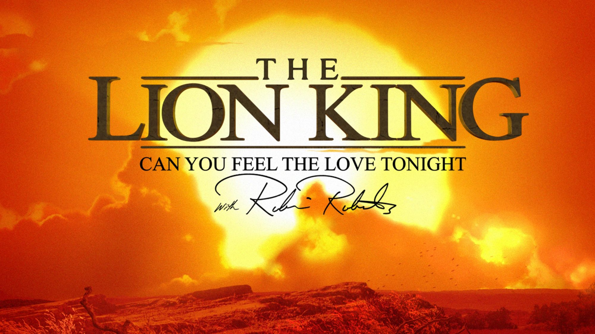 The Lion King Can You Feel The Love Tonight with Robin Roberts
