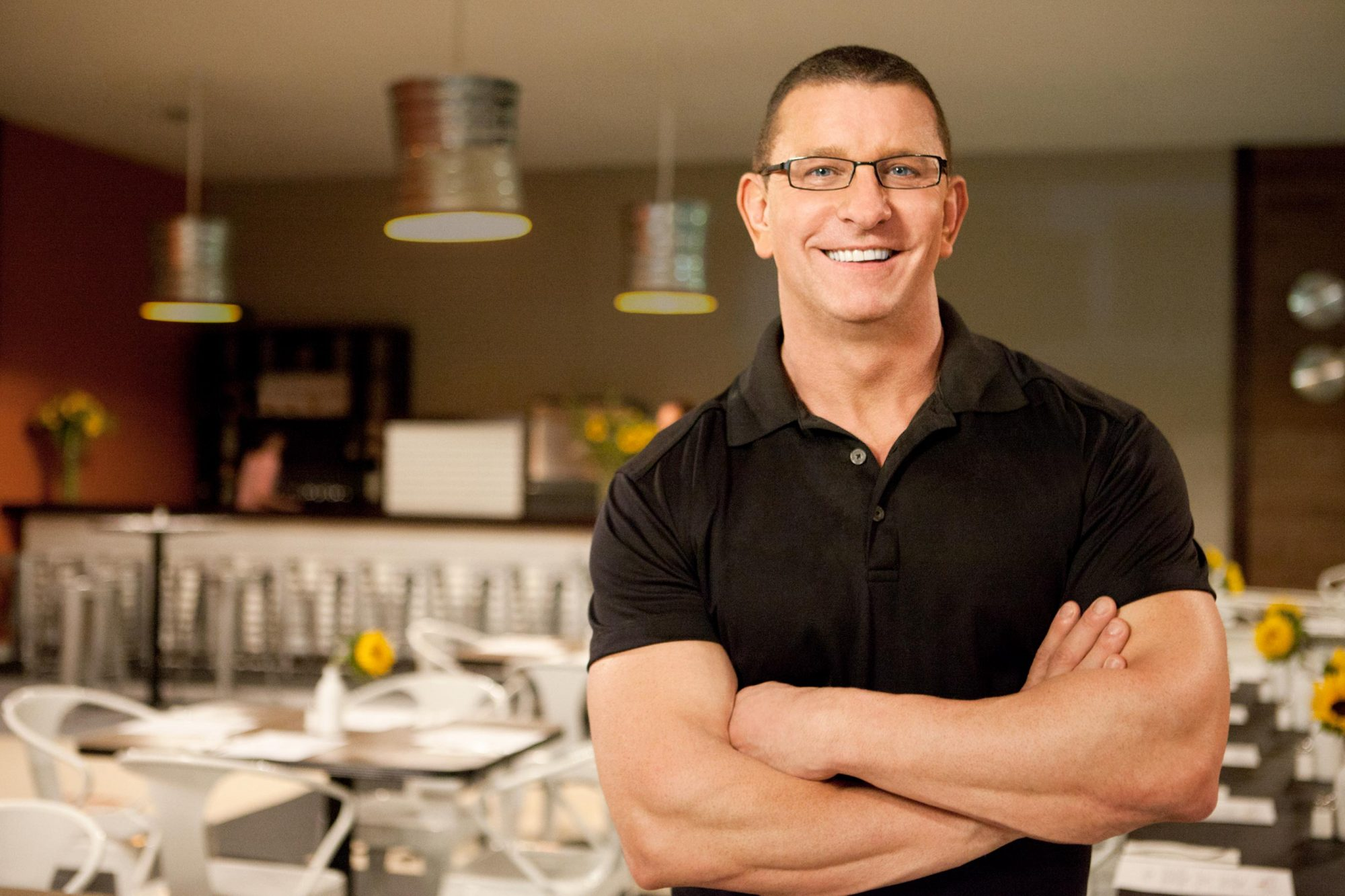 Robert Irvine on Food Network's Restaurant Impossible Season 14 Credit: Food Network