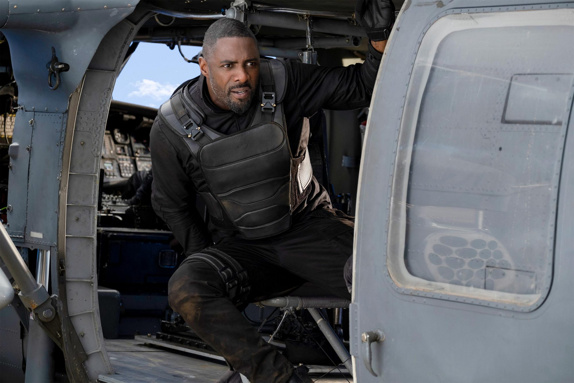 """Idris Elba as Brixton Lorr in """"Fast & Furious Presents: Hobbs & Shaw,"""" directed by David Leitch."""