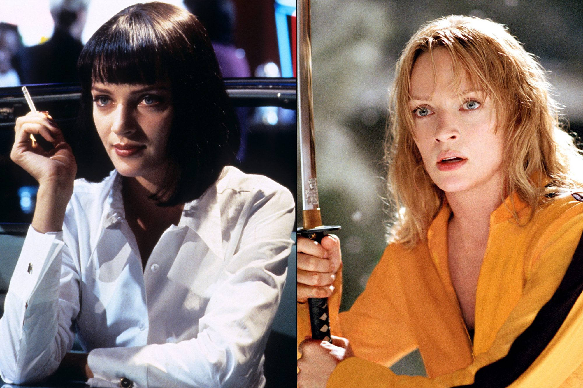 2. Uma Thurman (Pulp Fiction, Kill Bill: Volume 1, Kill Bill: Volume 2)