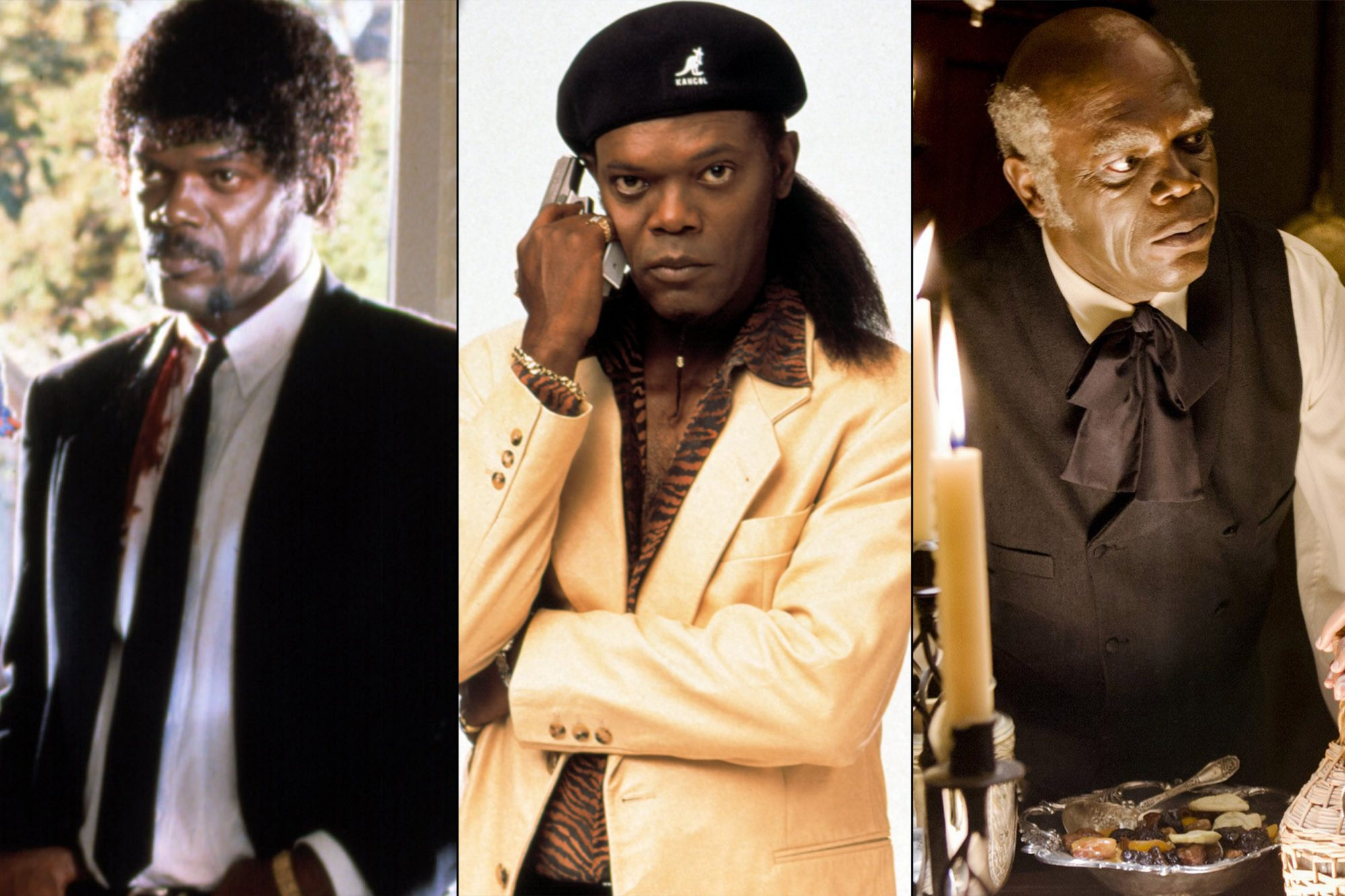 1. Samuel L. Jackson (True Romance, Pulp Fiction, Jackie Brown, Kill Bill: Volume 2, Inglourious Basterds, Django Unchained, The Hateful Eight)