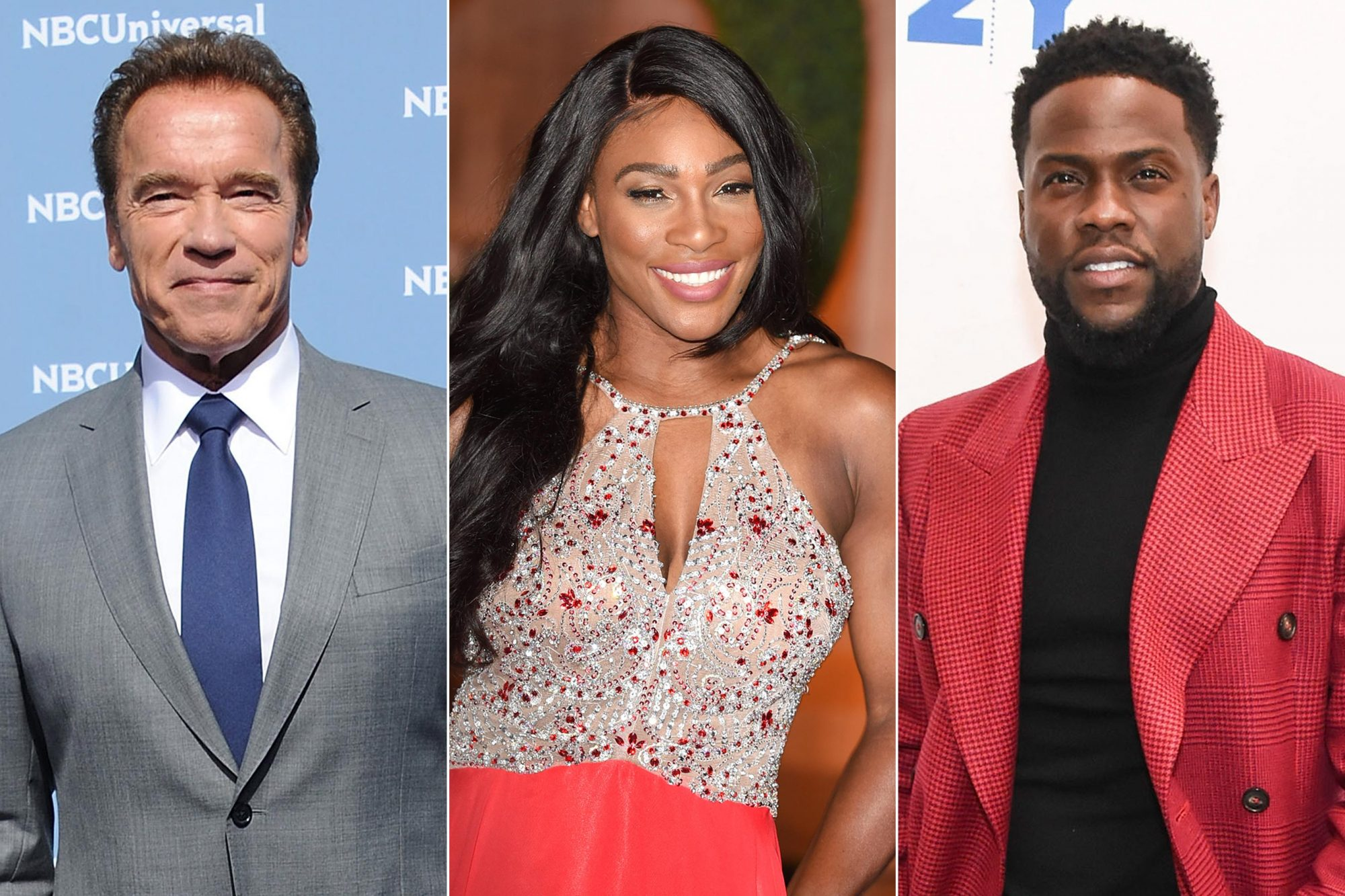 Arnold Schwarzenegger, Serena Williams, Kevin Hart