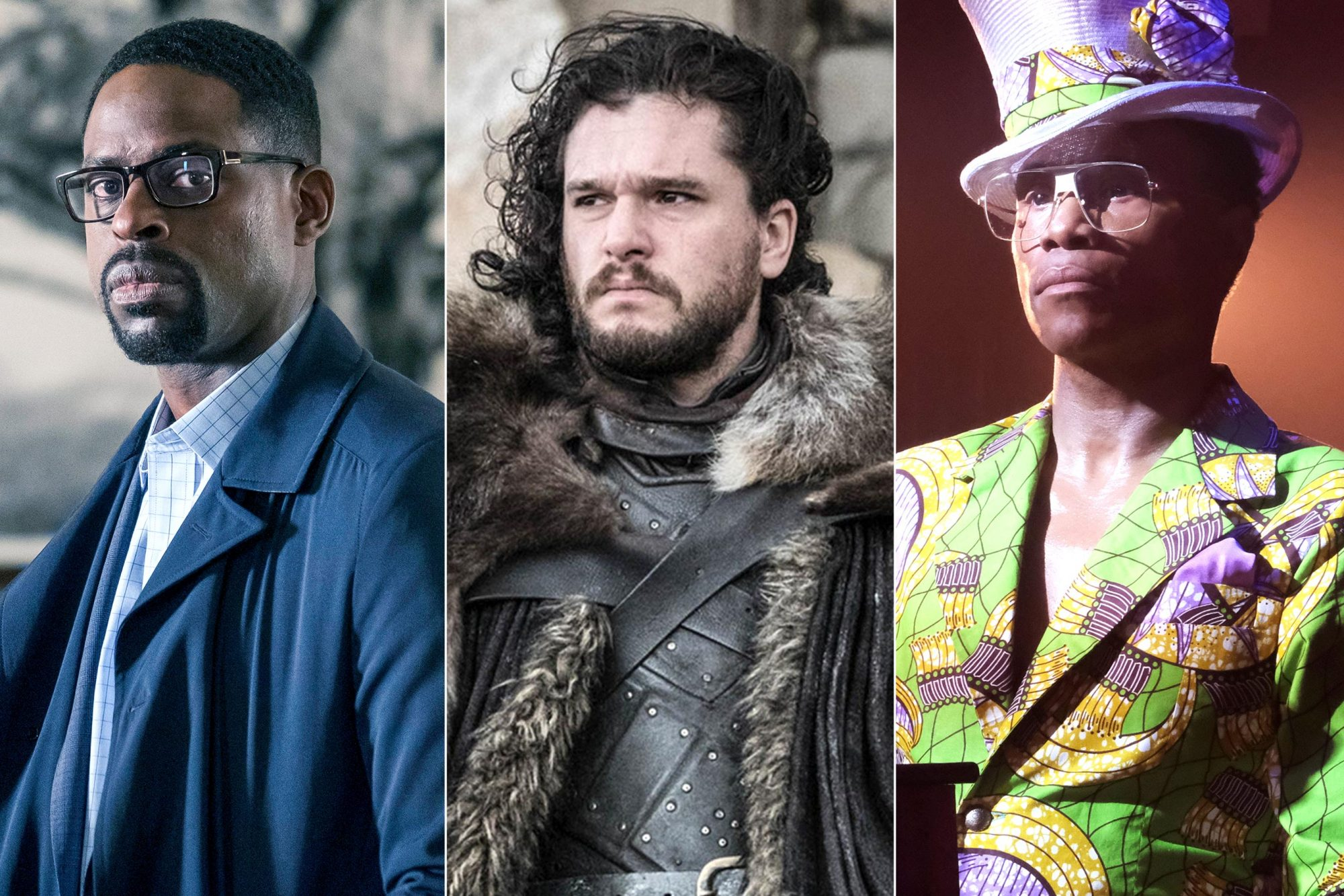 """THIS IS US -- """"Her"""" Episode 318 -- Pictured: Sterling K. Brown as Randall -- (Photo by: Ron Batzdorff/NBC/NBCU Photo Bank via Getty Images) Game of Thrones series finale Season 8, Episode 6 """"The Iron Throne"""" Pictured: Kit Harington as Jon Snow CR: Helen Sloan/HBO POSE -- """"Mother of the Year"""" -- Season 1, Episode 8 (Airs Sunday, July 22, 9:00 p.m. e/p) Pictured: Billy Porter as Pray Tell. CR: JoJo Whilden/FX"""