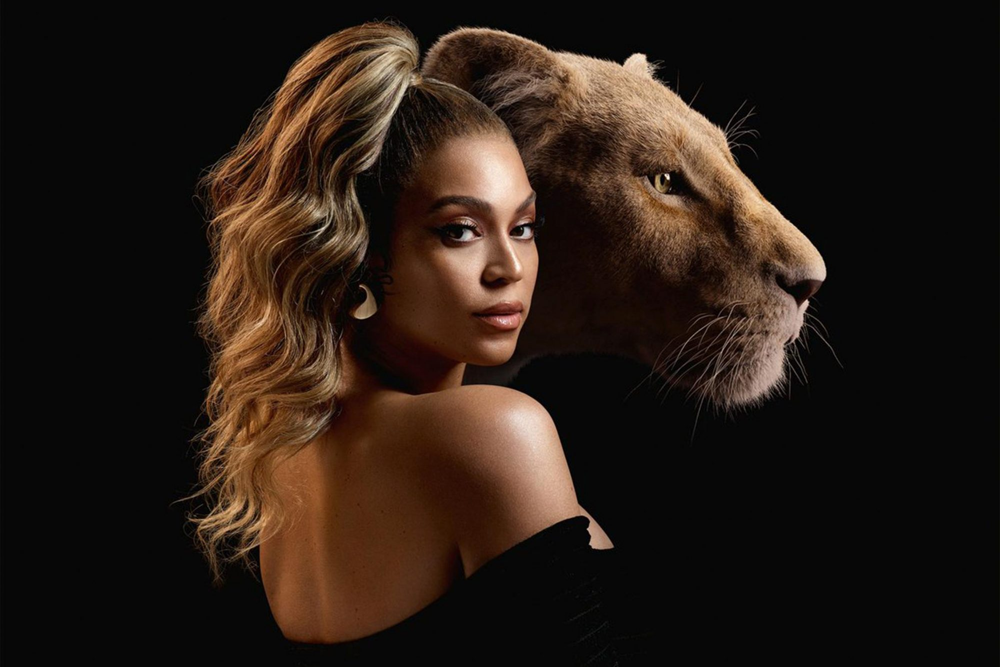 THE LION KING - (L-R) Nala and Beyoncé Knowles-Carter. Photo by Kwaku Alston. © 2019 Disney Enterprises, Inc. All Rights Reserved. CR: Kwaku Alston/© 2019 Disney