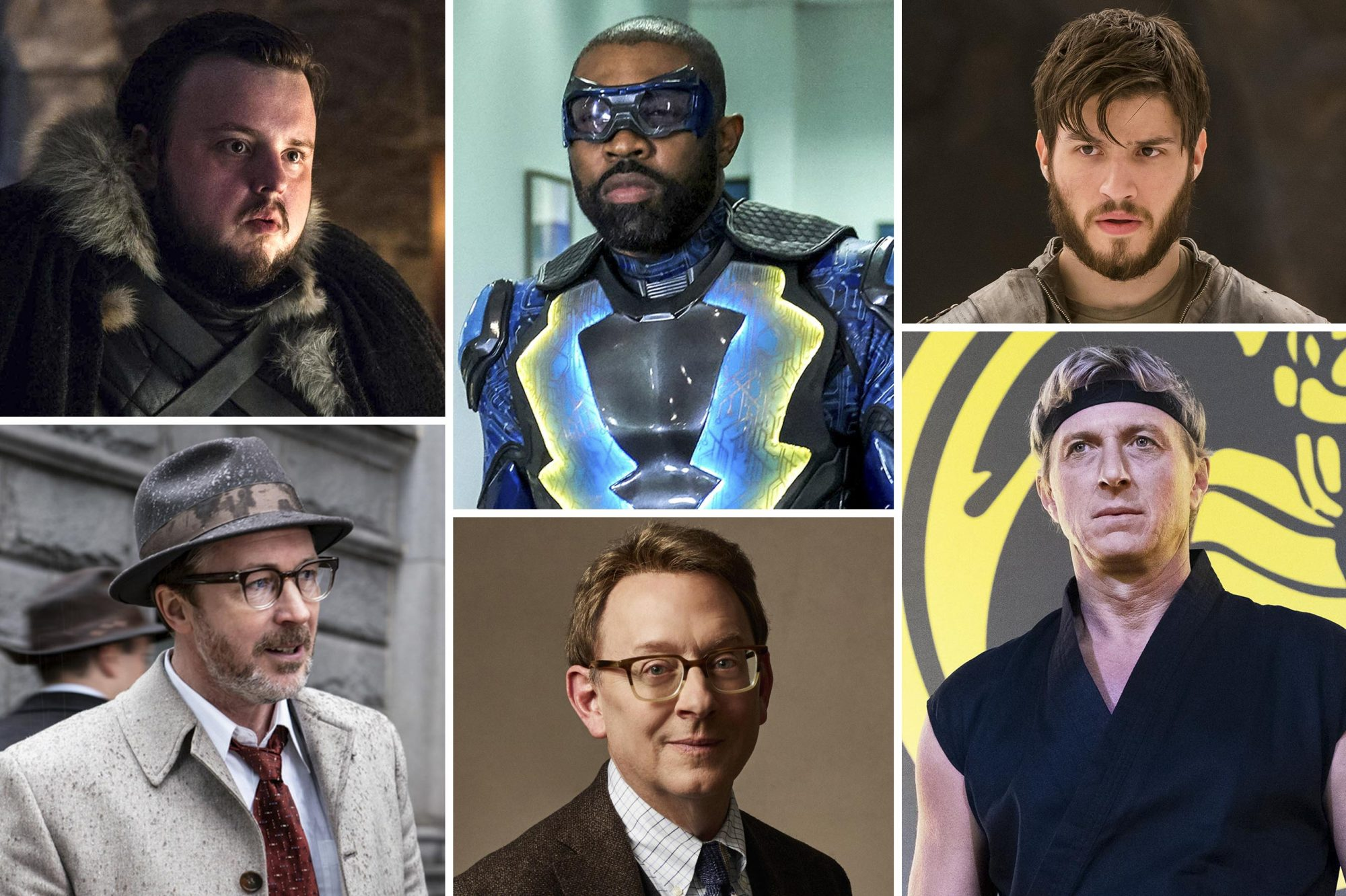 John Bradley (Game of Thrones), Cameron Cuffe (Krypton), Michael Emerson (Evil), Aidan Gillen (Project Blue Book), Cress Williams (Black Lightning), and William Zabka