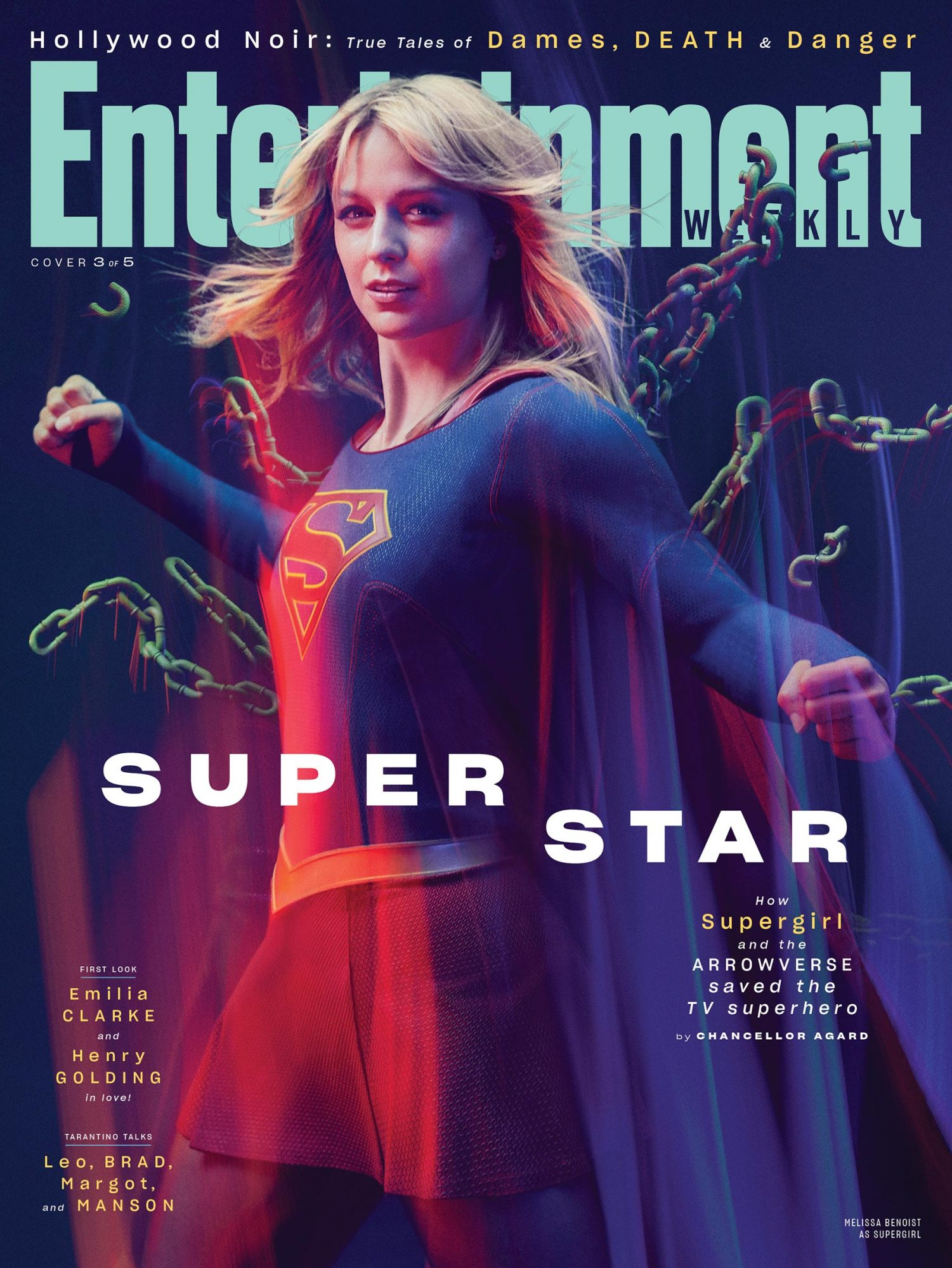 EW August 2019 Cover - Melissa Benoist as Supergirl