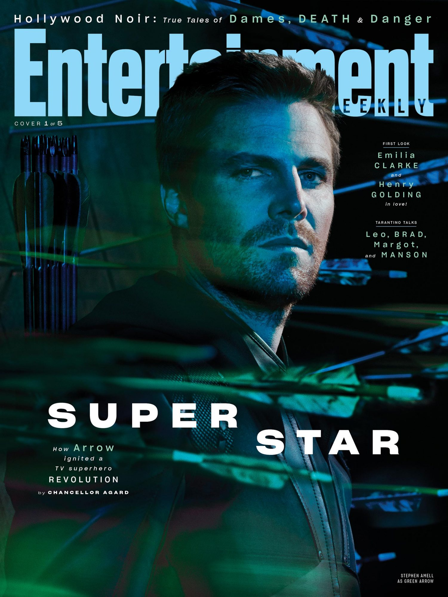 EW August 2019 Cover - Stephen Amell as Green Arrow
