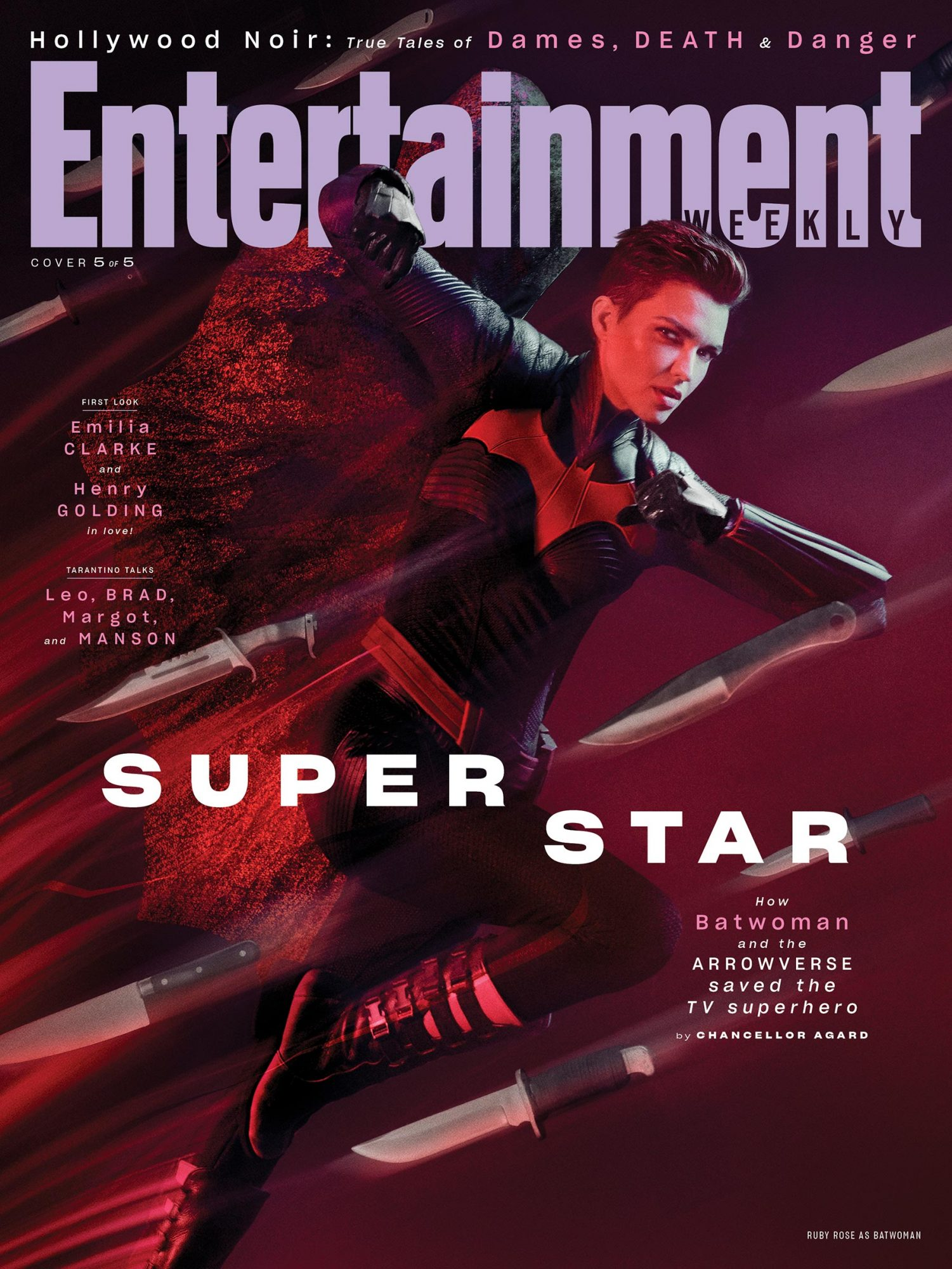 EW August 2019 Cover - Ruby Rose as Batwoman