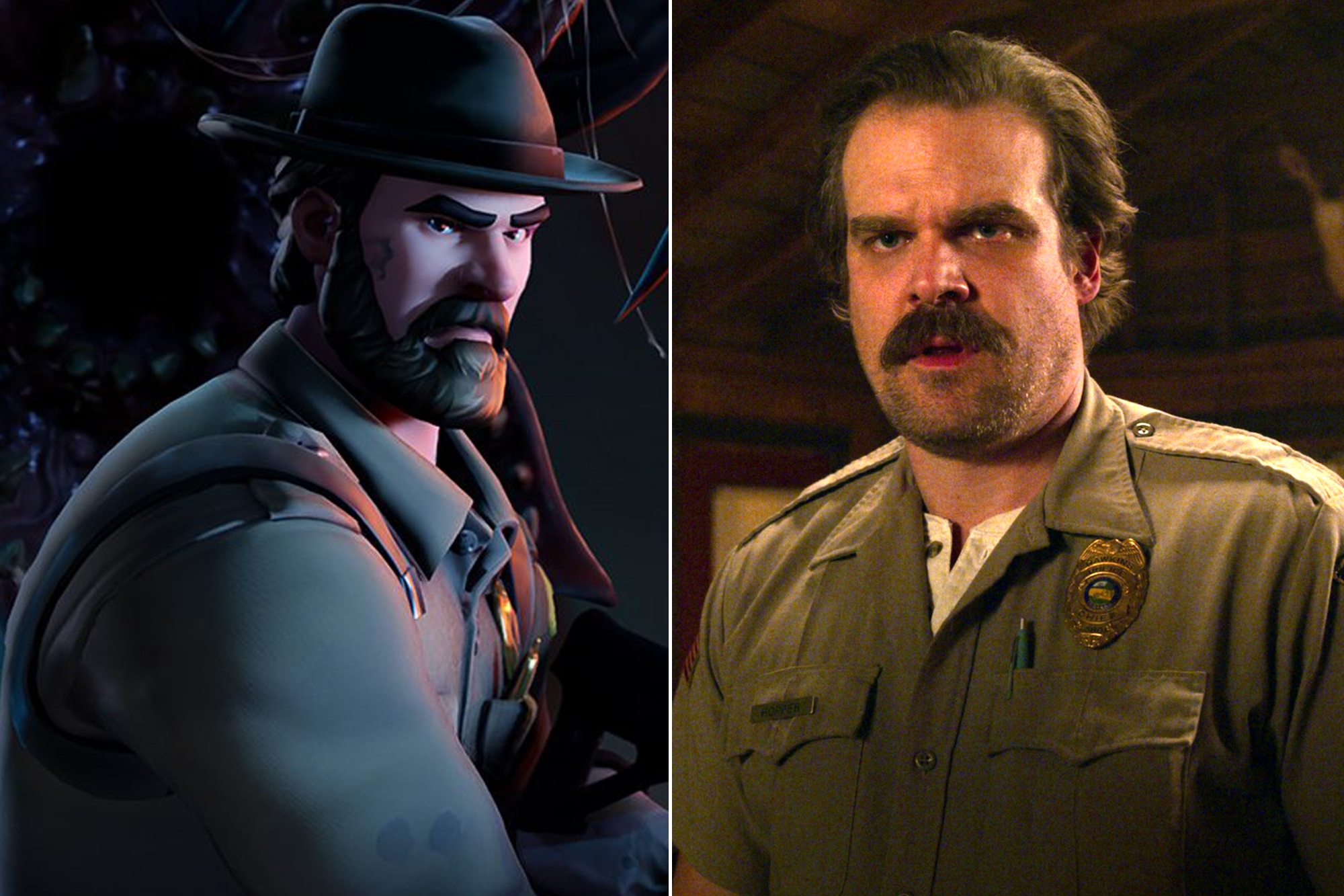 David Harbour in Stranger Things Fortnite