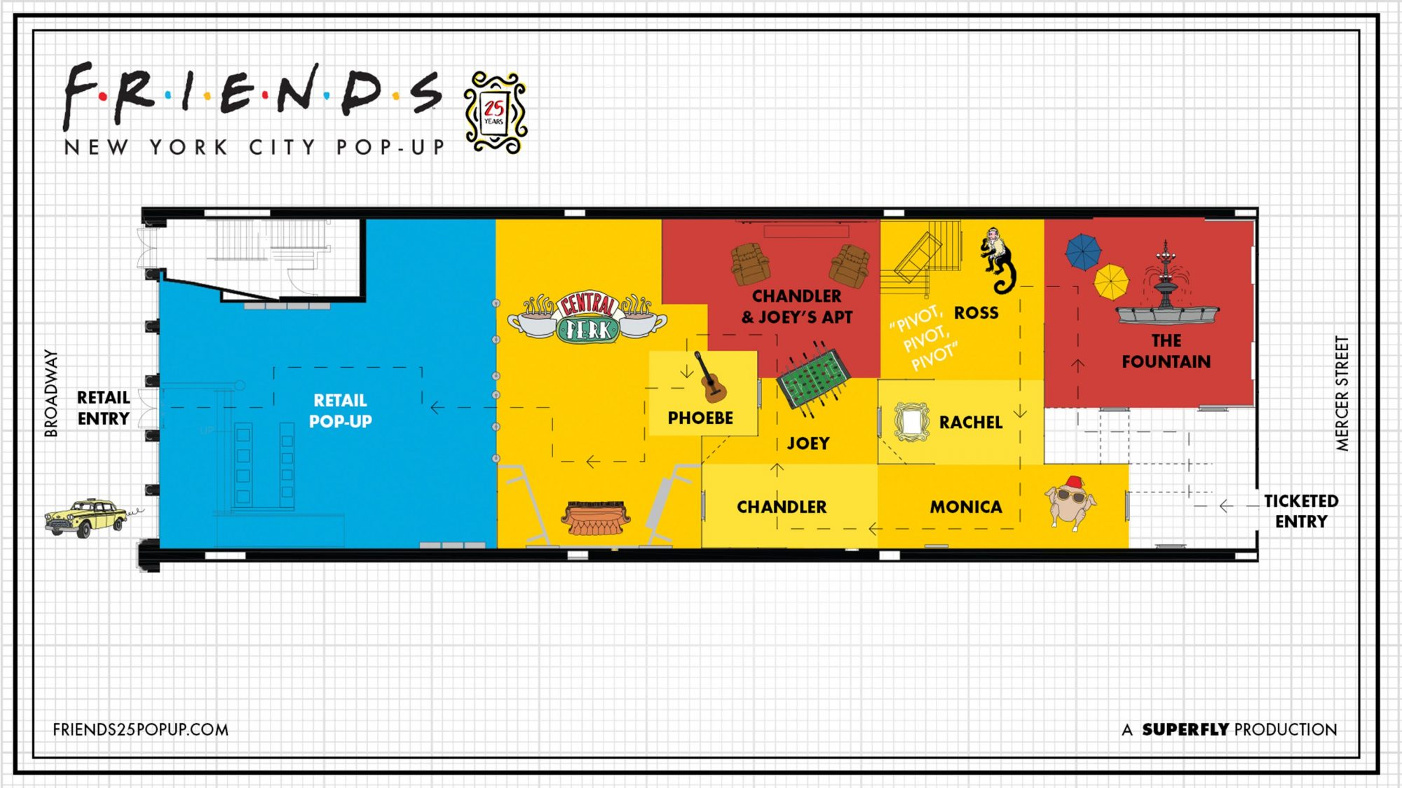 Friends' pop-up opening in New York to celebrate 25th anniversary