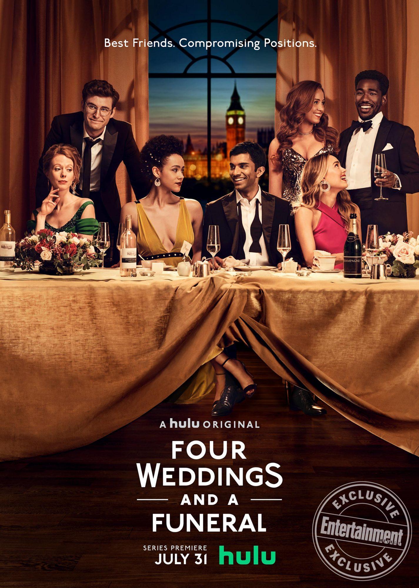 Four Weddings and a Funeral key art CR: Hulu