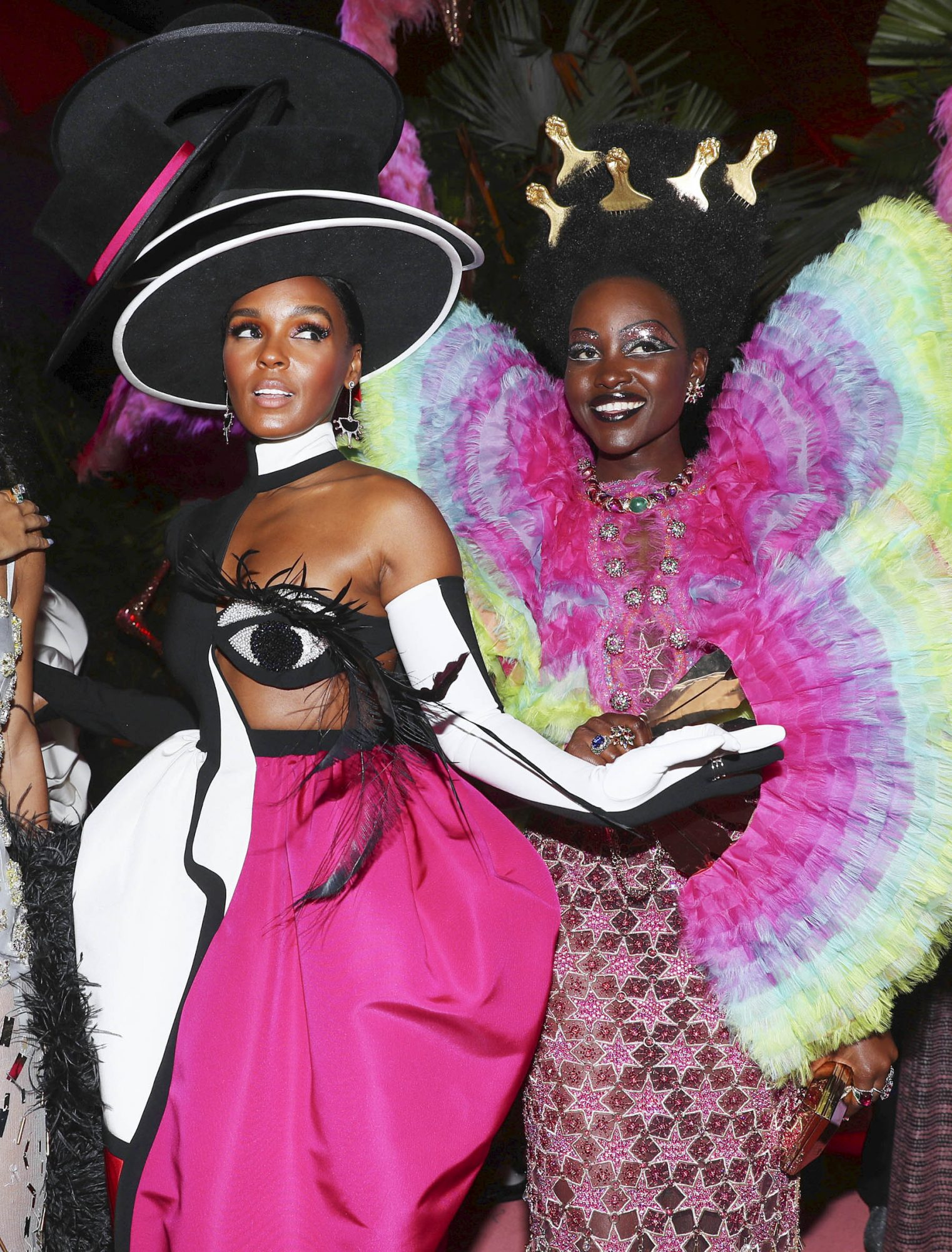 NEW YORK, NEW YORK - MAY 06: Yara Shahidi, Janelle Monáe and Lupita Nyong'o attend The 2019 Met Gala Celebrating Camp: Notes on Fashion at Metropolitan Museum of Art on May 06, 2019 in New York City. (Photo by Kevin Tachman/MG19/Getty Images for The Met Museum/Vogue)