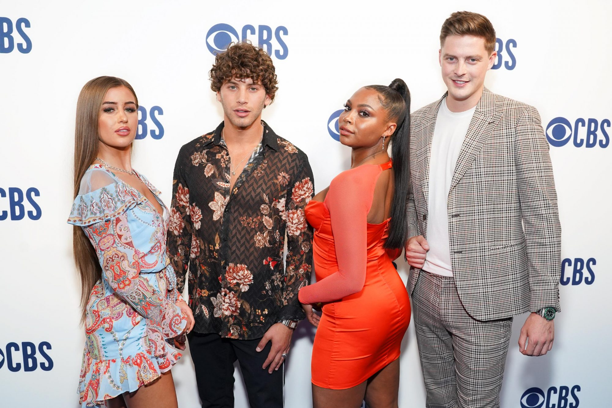 NEW YORK, NEW YORK - MAY 15: (L-R) Georgia Steel, Eyal Booker, Samira Booker and Dr. Alex George attend the 2019 CBS Upfront at The Plaza on May 15, 2019 in New York City. (Photo by Manny Carabel/WireImage)