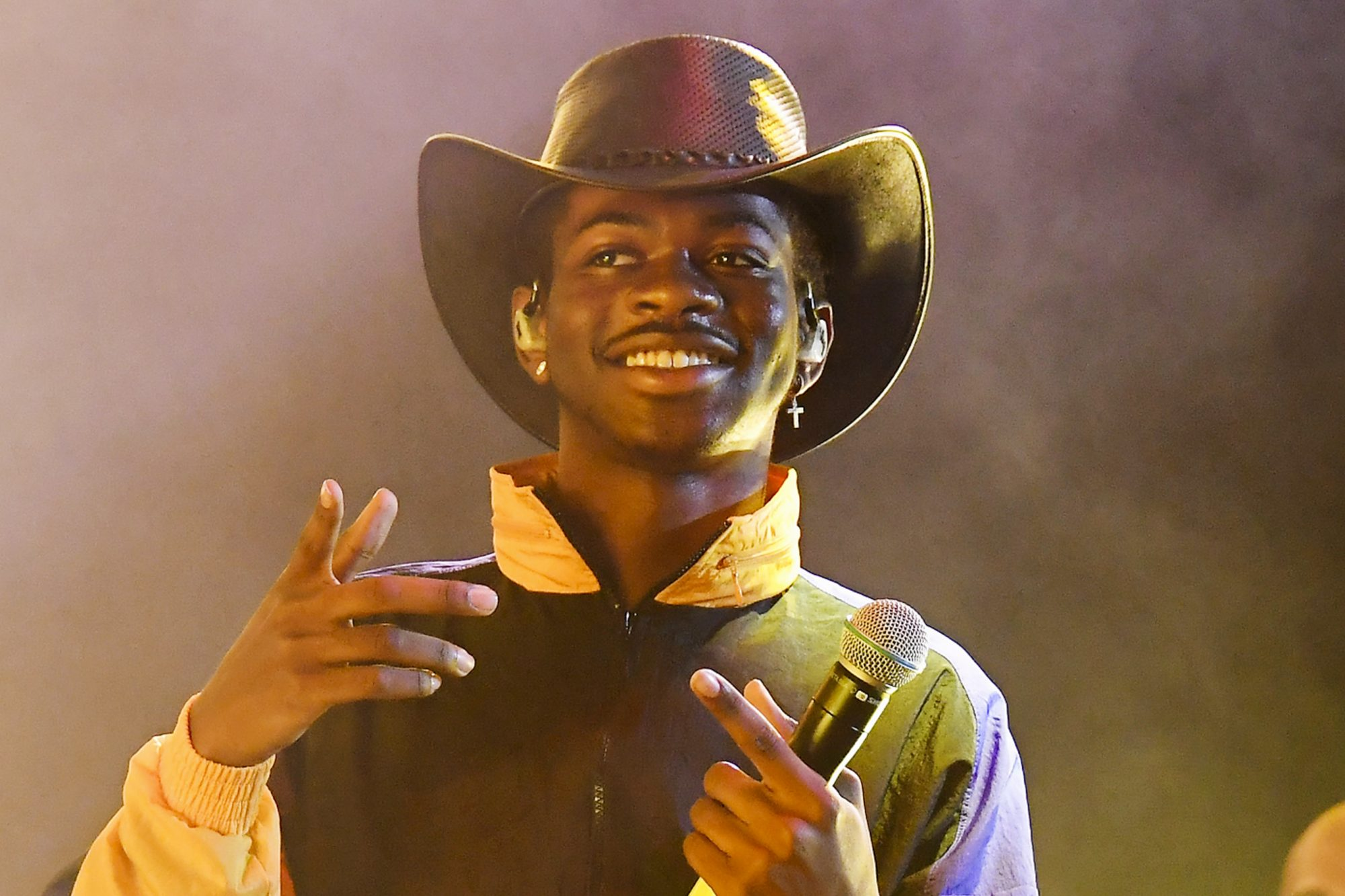 EAST RUTHERFORD, NEW JERSEY - JUNE 02: Lil Nas X performs at Summer Jam 2019 at MetLife Stadium on June 02, 2019 in East Rutherford, New Jersey. (Photo by Nicholas Hunt/Getty Images)