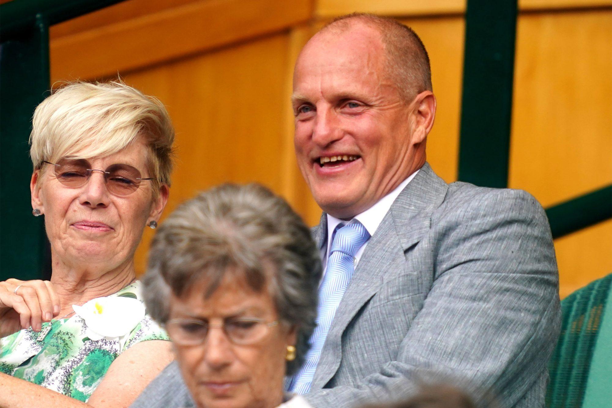 Woody Harrelson at the Wimbledon Championships