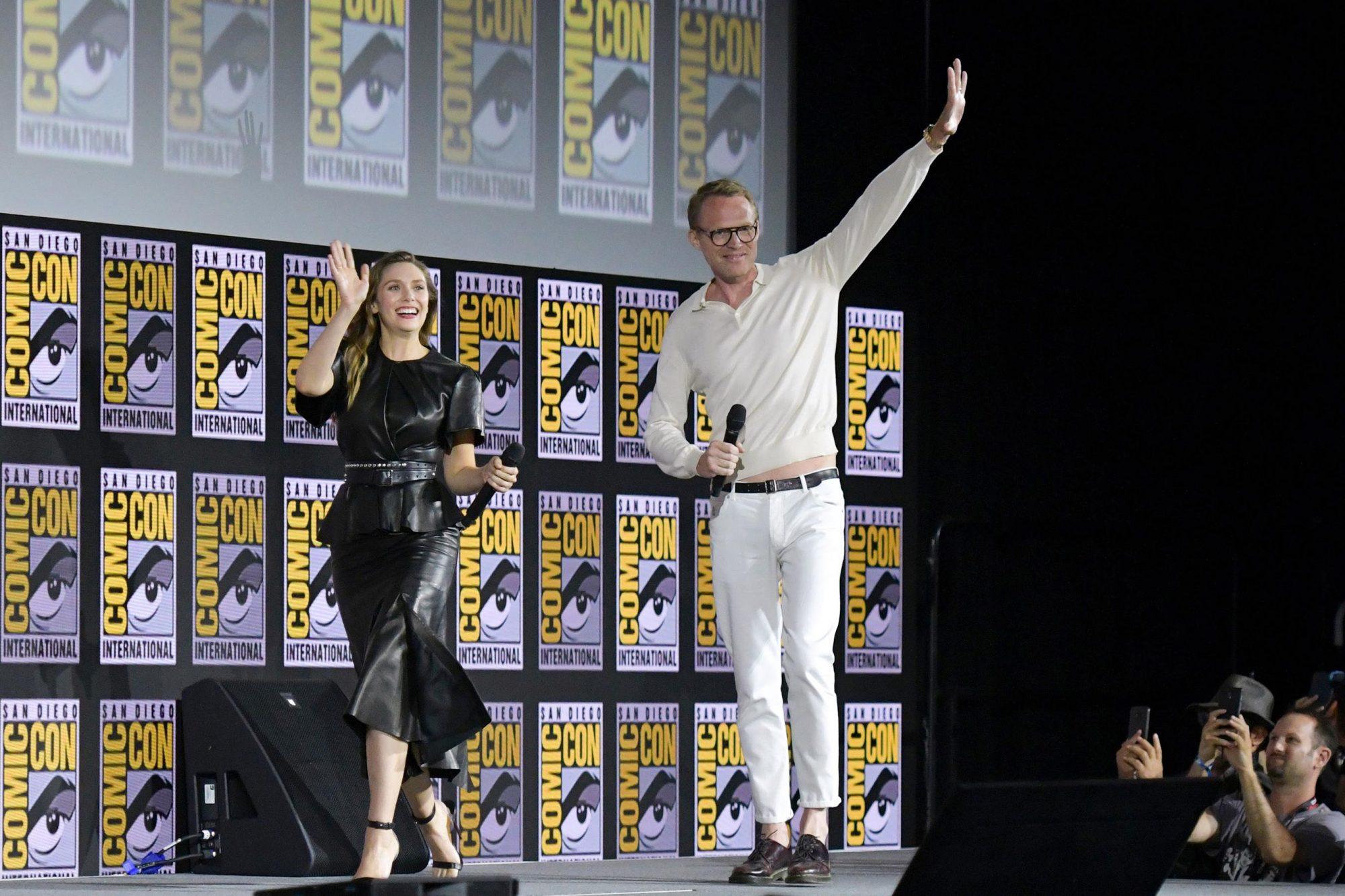 Elizabeth Olsen and Paul Bettany